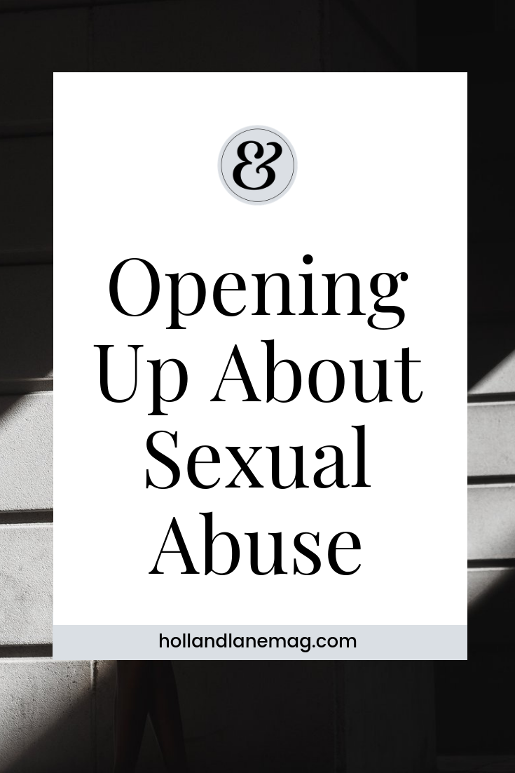 The first time I ever talked about sexual abuse out it in public was scary because I didn't intend to ever speak about what happened to me. Read more at hollandlanemag.com