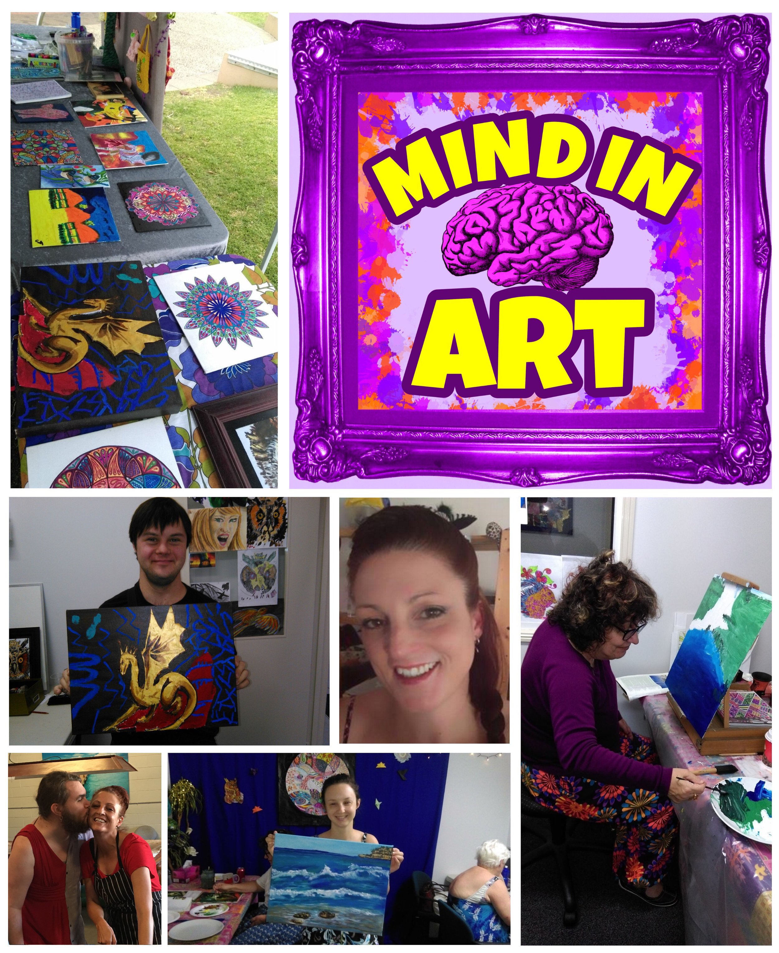 MIND in ART - Peer support based expressive art program for mental health consumers in the Redlands and Bayside areas.