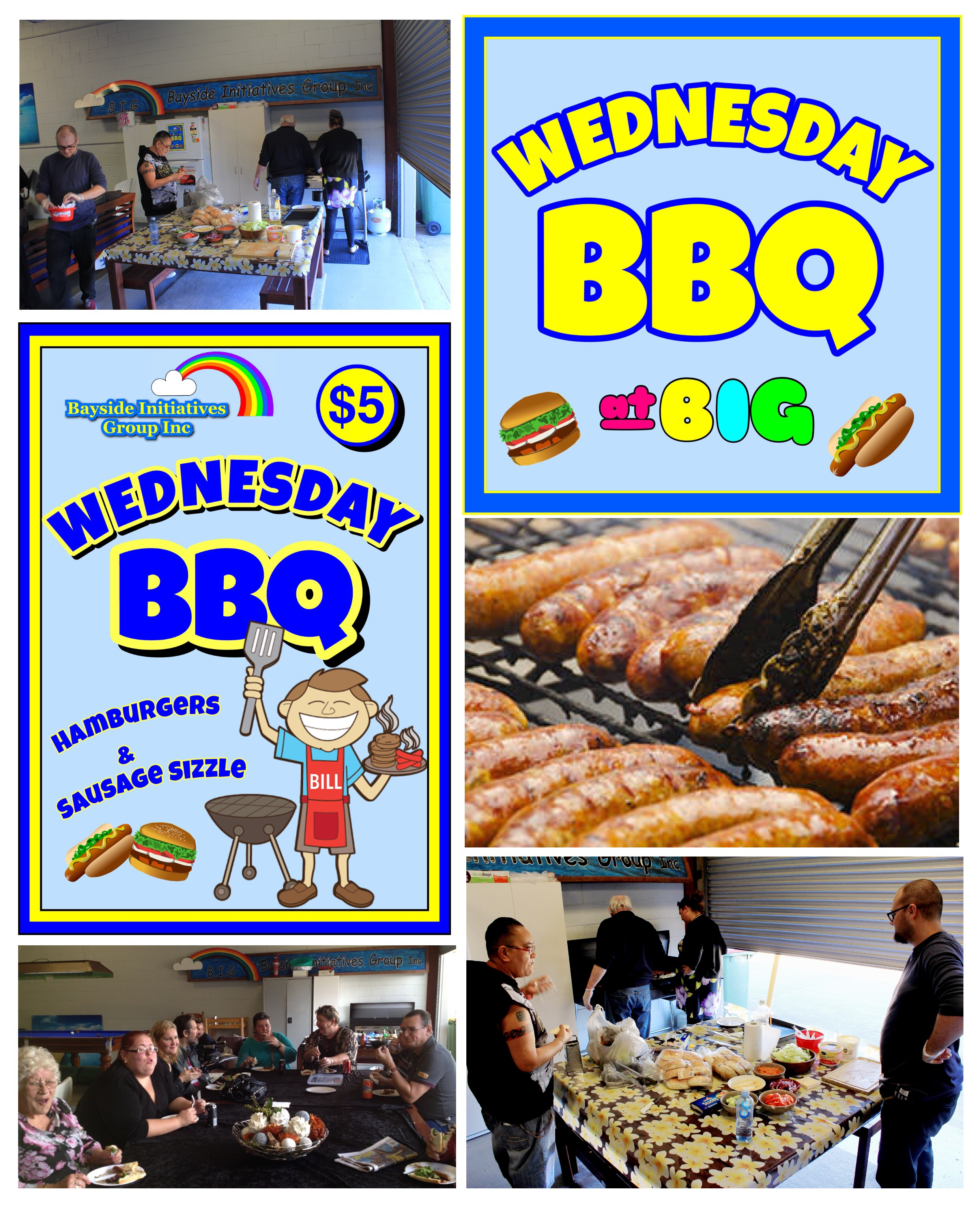 Wednesday BBQ @ BIG - Good food, great friends, fun times - Peer support for mental health consumers in the Redlands and Bayside areas.