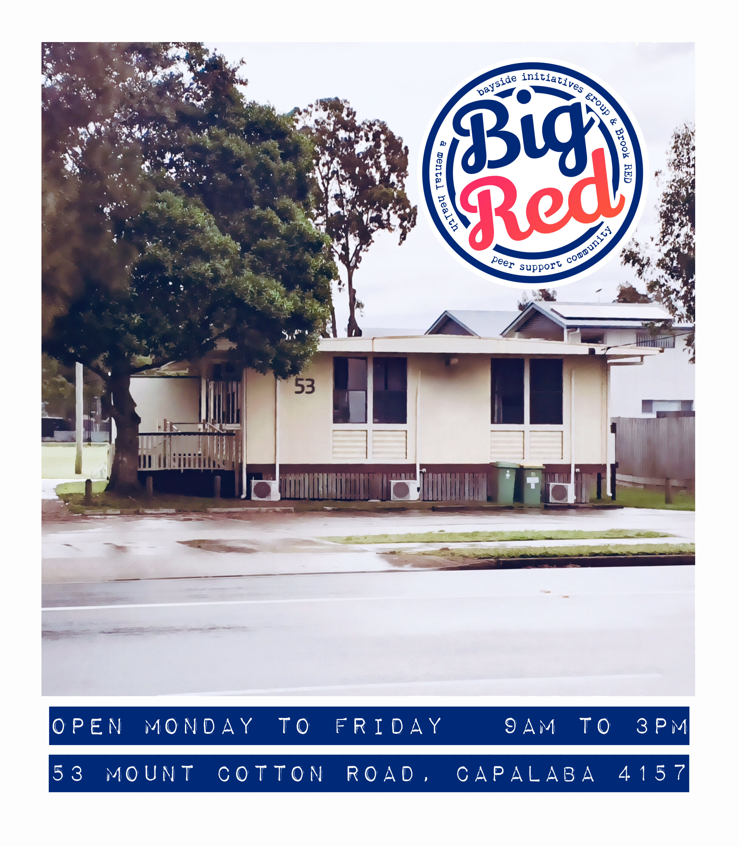 BIG RED is a peer-operated community supporting  holistic recovery from a mental health concern.   We use the unique insights and connections that a  peer perspective provides in all of our work. We walk together on the journey of recovery. We hold strong to the values of hope, self determination,  empowerment, connection and support.