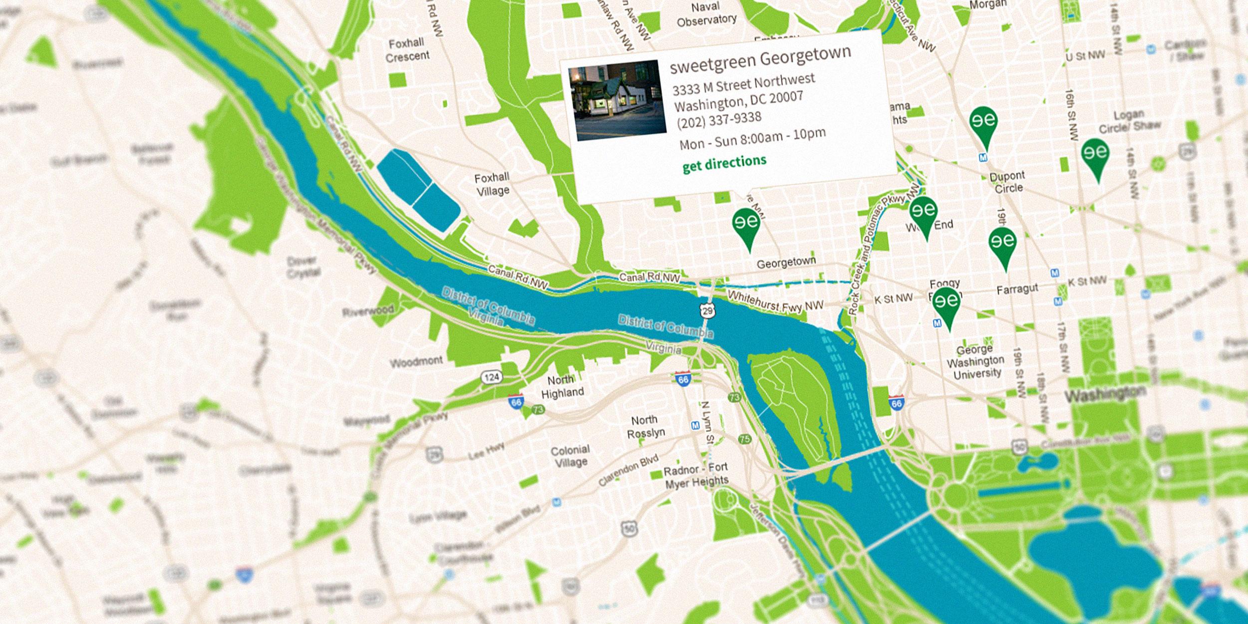 Sweetgreen Map