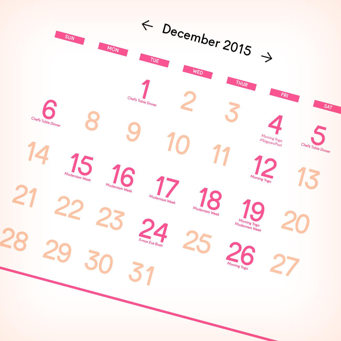 Saguaro Calendar
