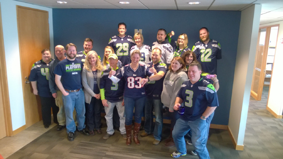 Seahawks Spirit! (and one Patriots fan)