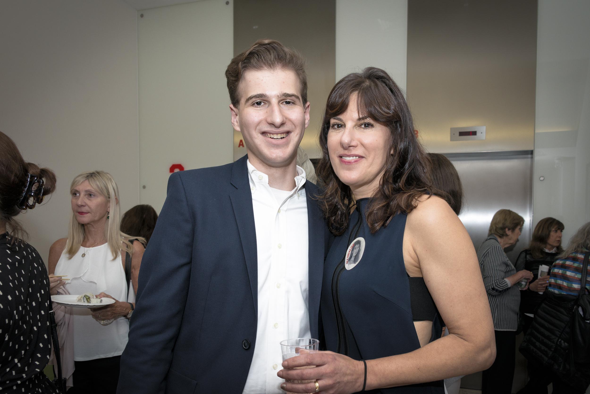 (L-R) Marisa Fox with her son Leo Bevilacqua