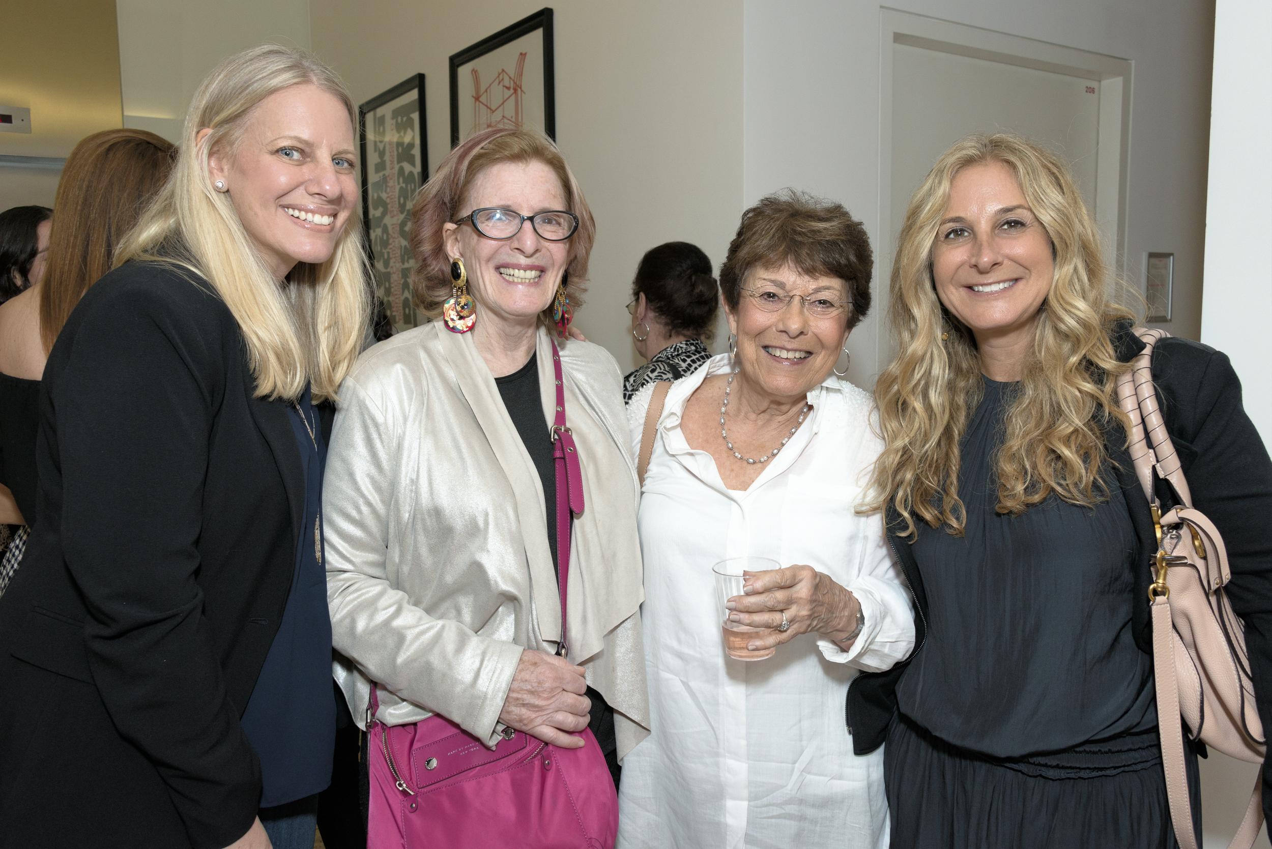 (L-R) Sharon Weiss, Barbara Meltzer, Susan Kastin and Pamela Weinberg