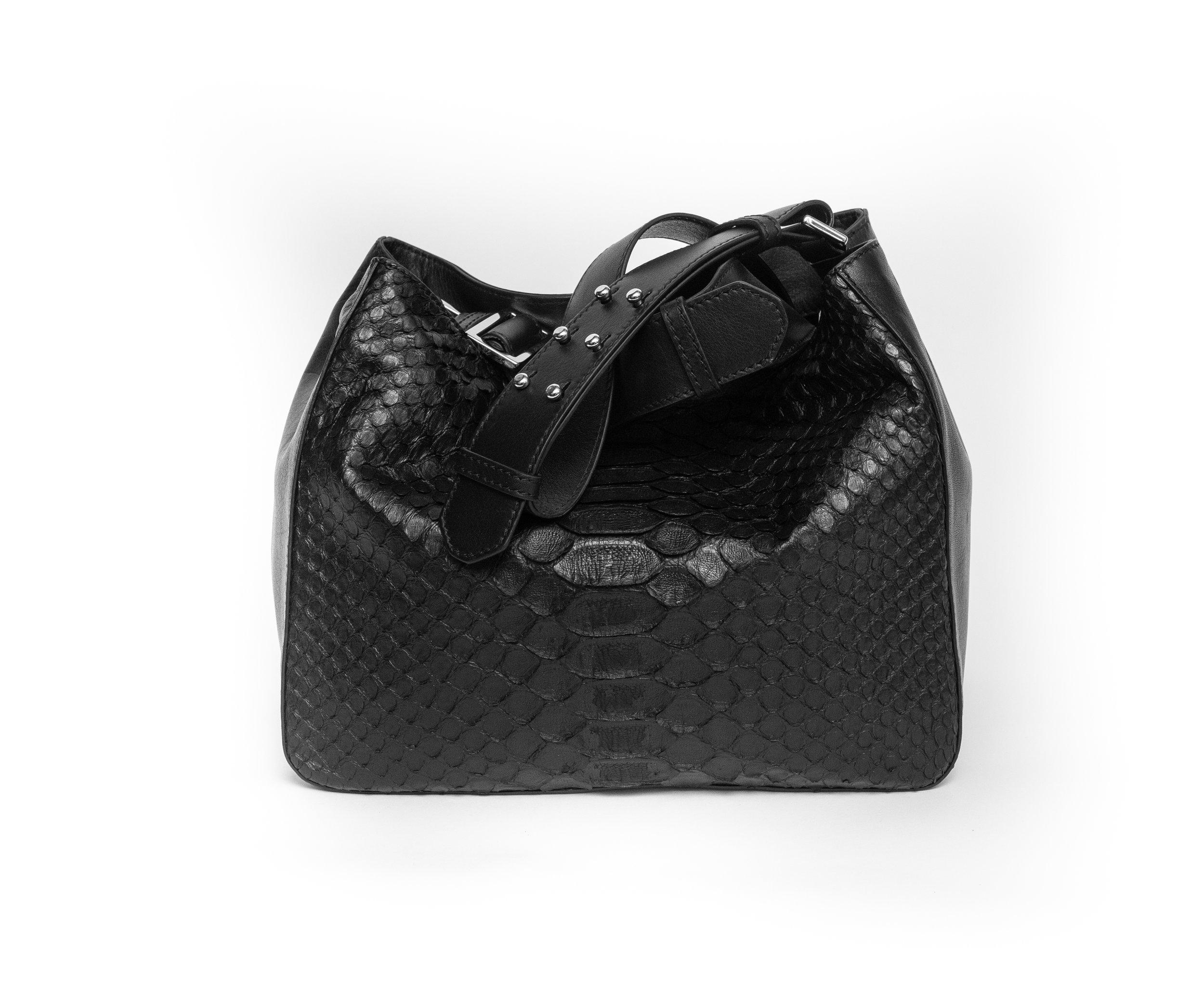 Mini Cb Black w Anaconda sitting 2.jpg