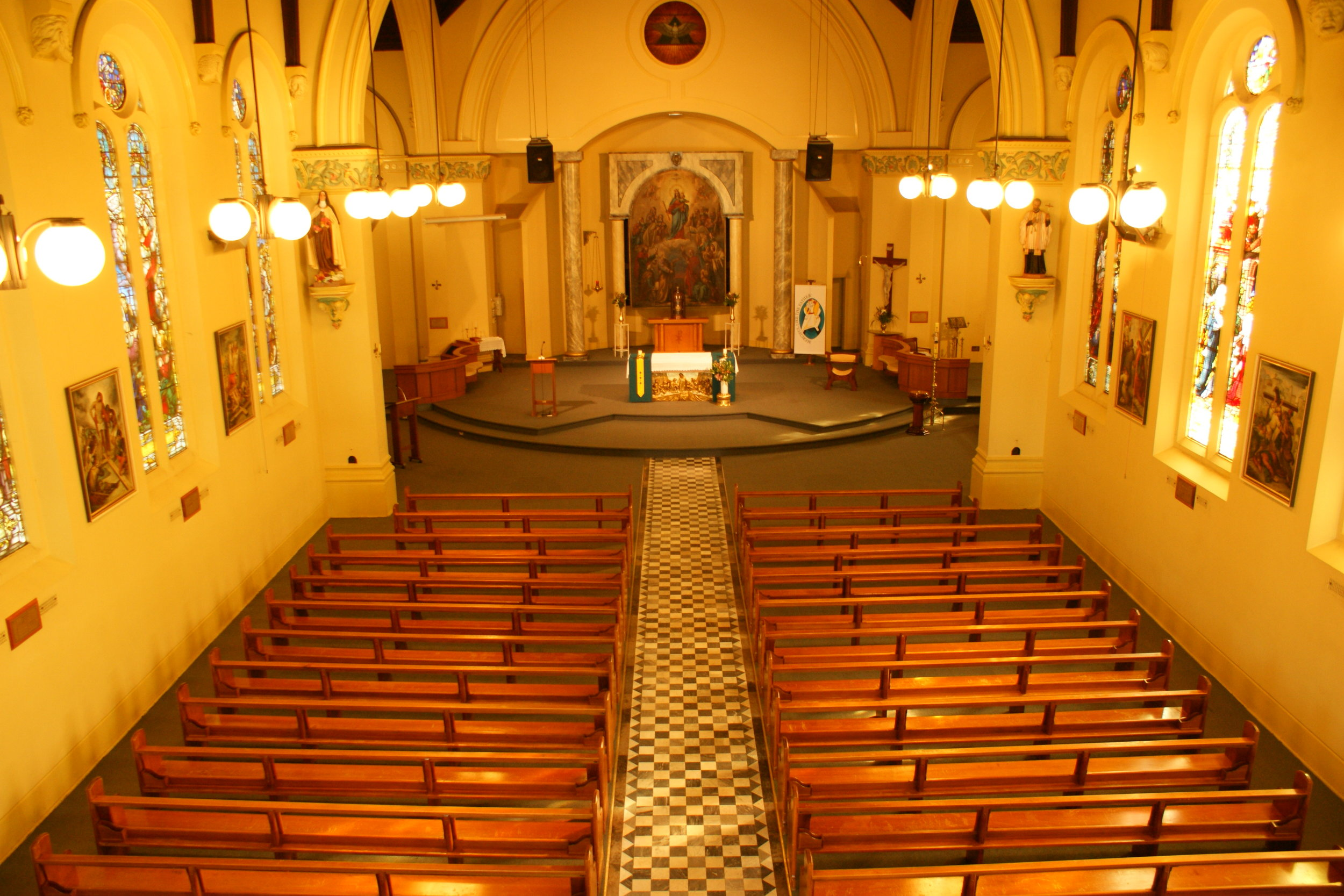The interior of Our Lady's Church