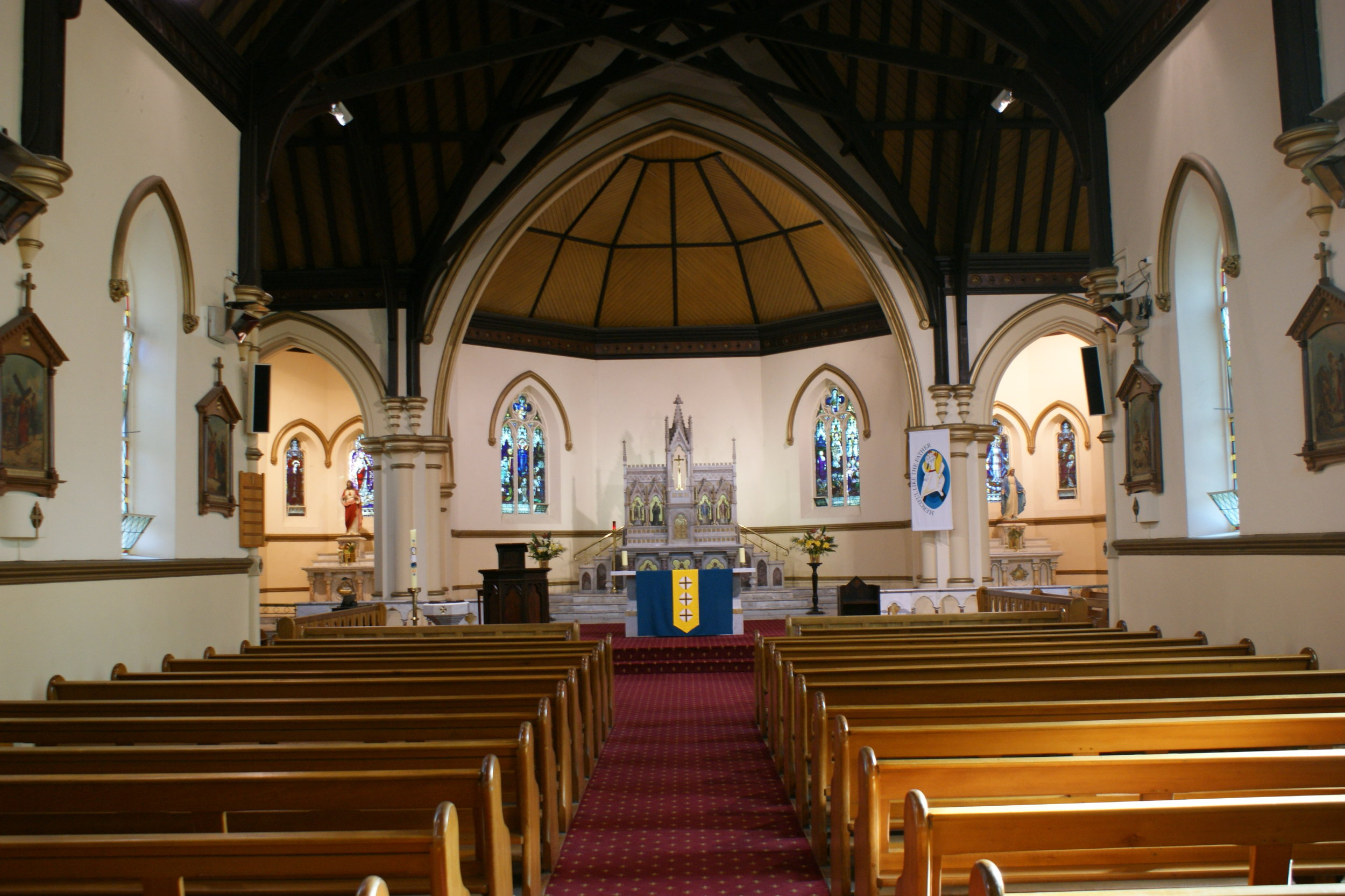 The interior of St Ambrose's Church