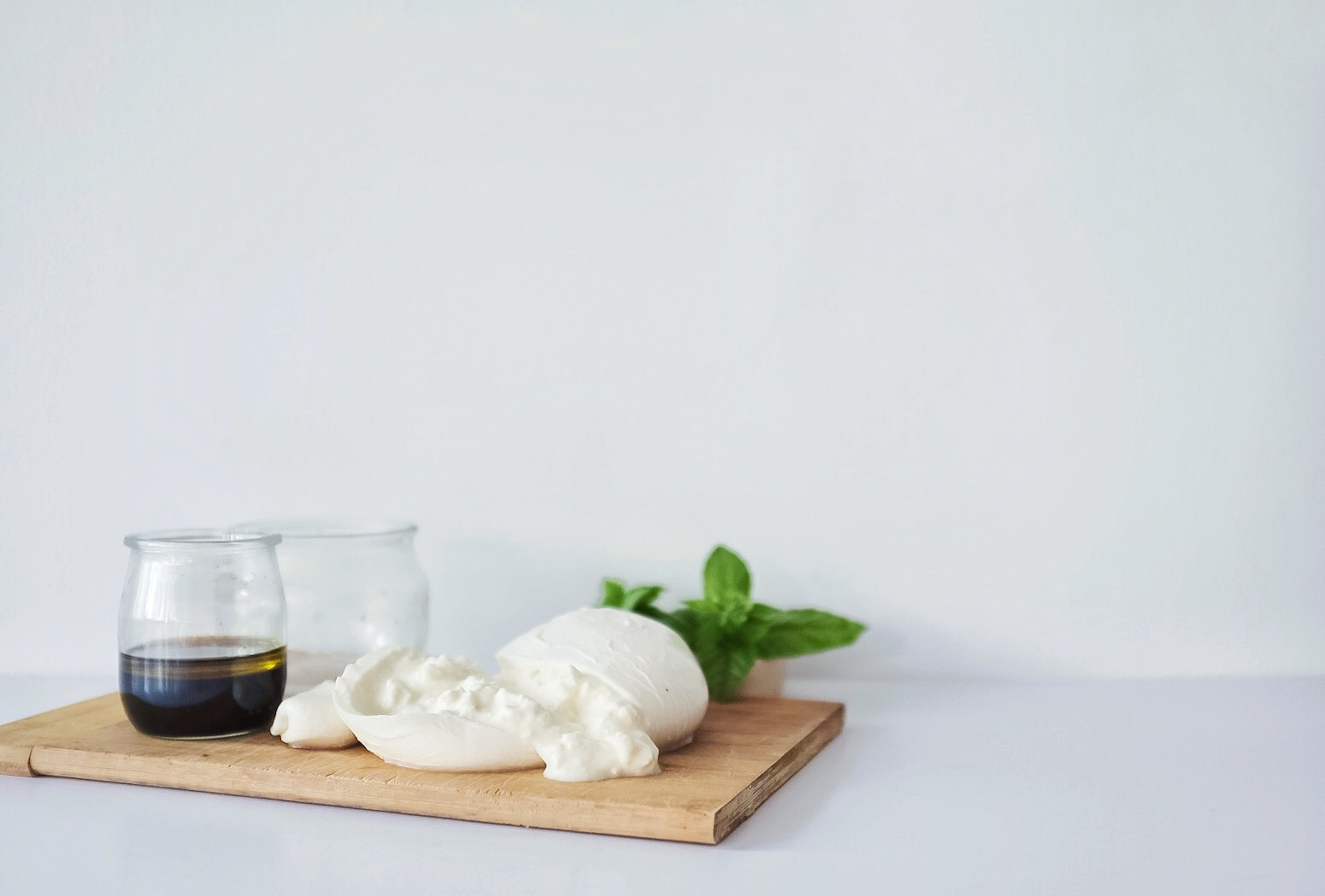 Things to splurge on. Definitely make sure you get great quality burrata, balsamic and fresh basil. It makes a world of difference.