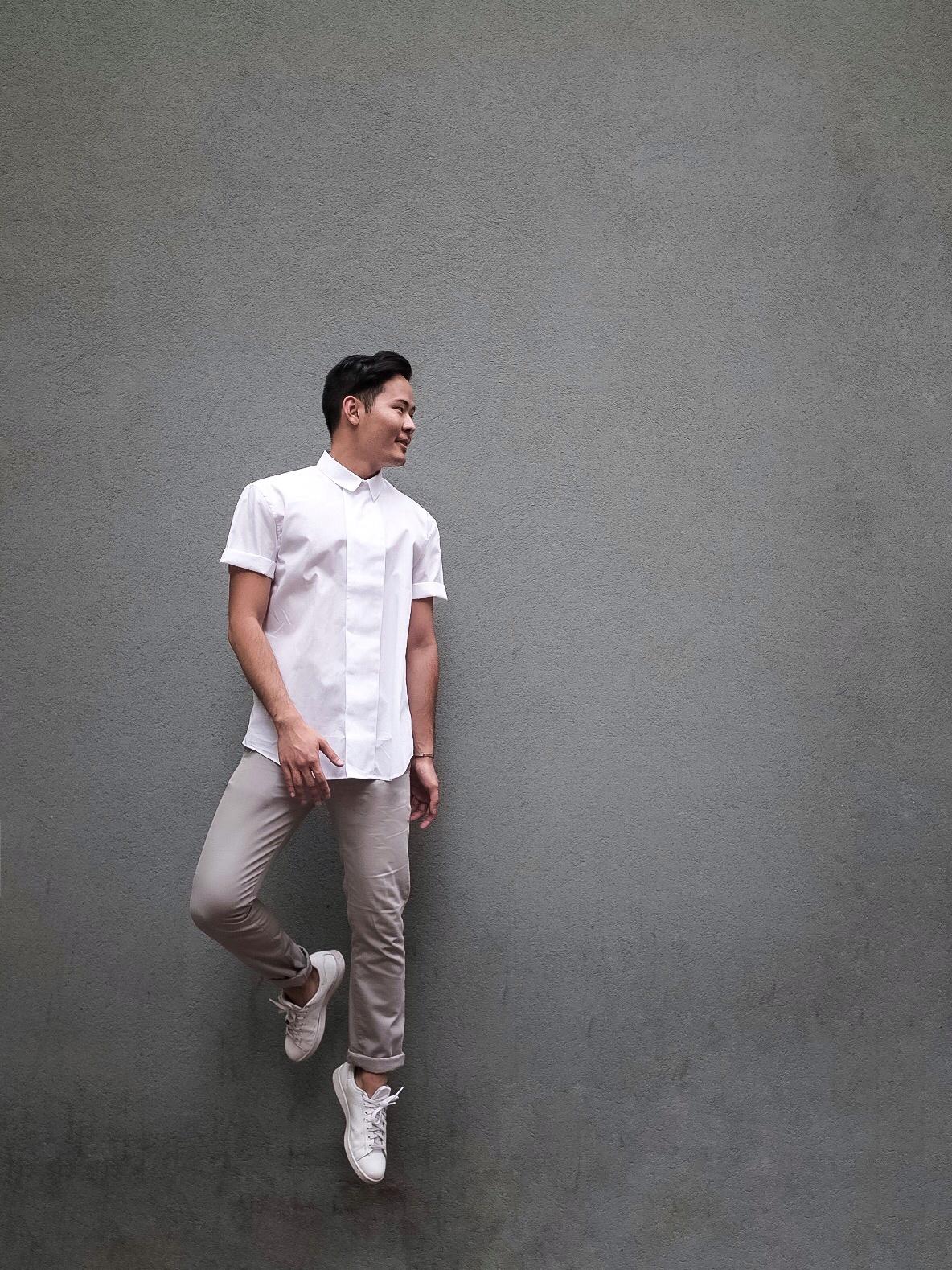 Shirt: Carven, Pants: Acne Studios
