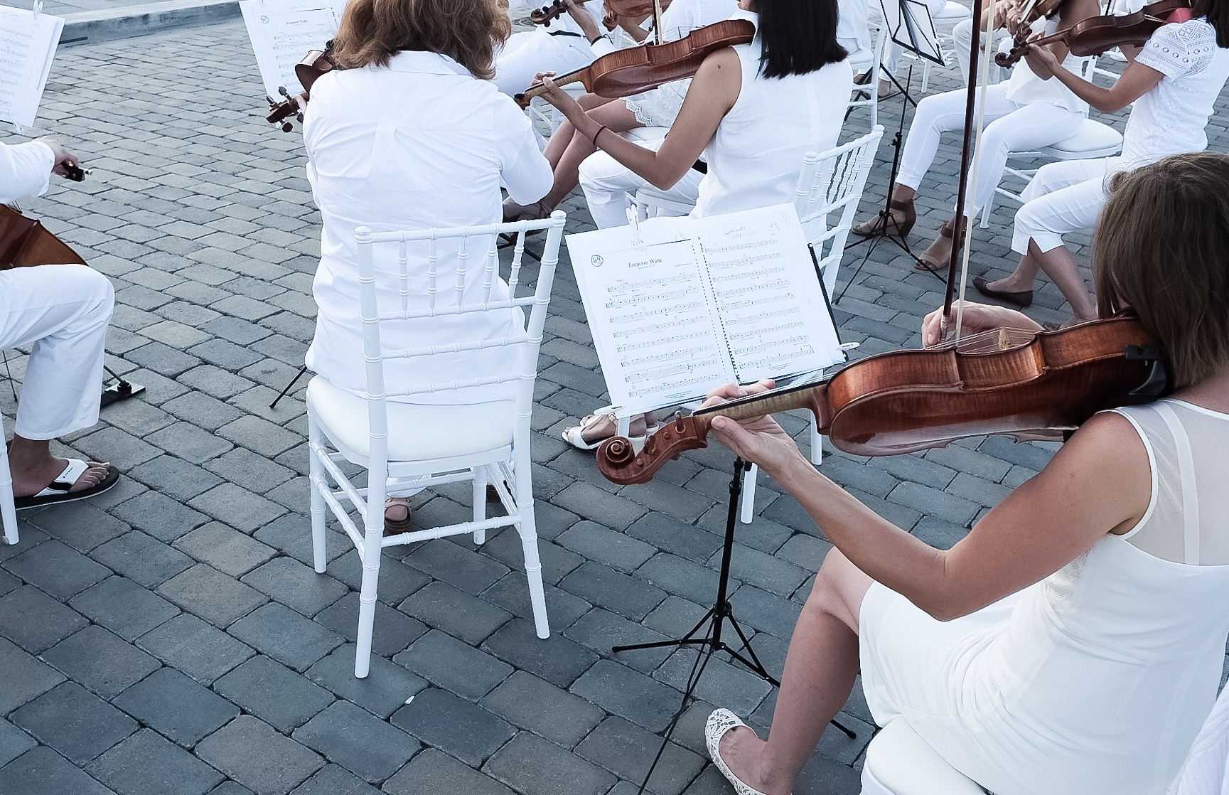 Live violinists romanced the crowd.