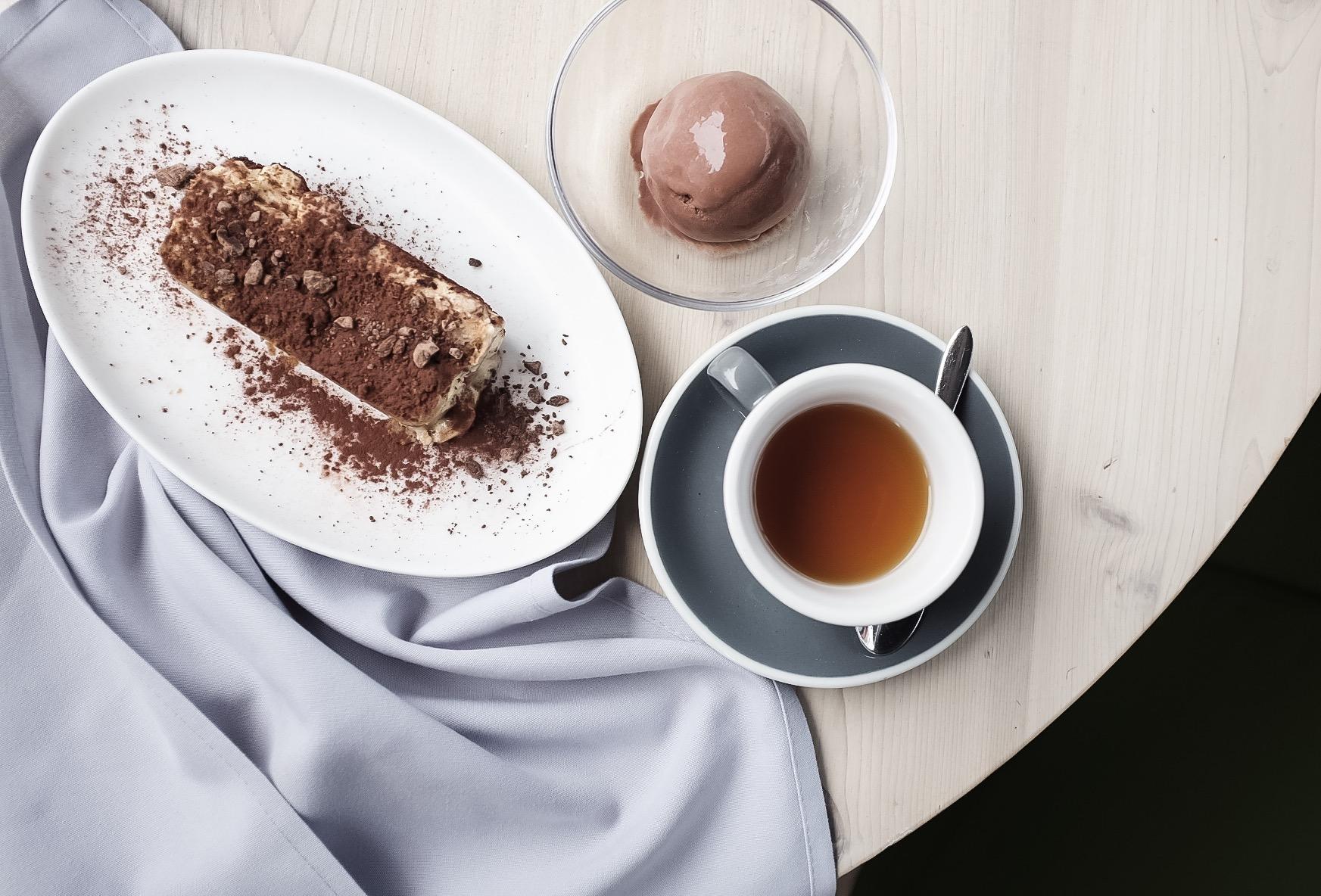 Tasty tiramisu for dessert.
