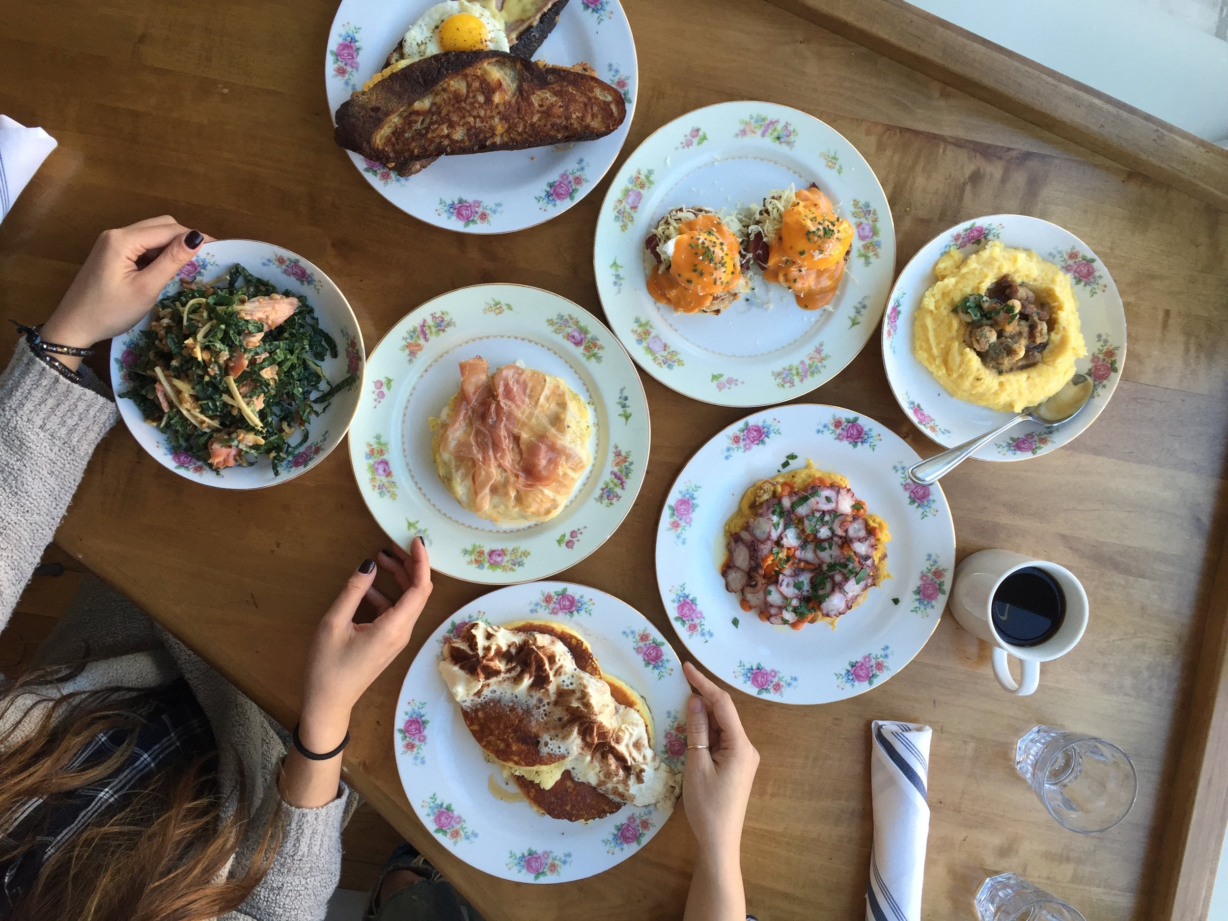 What the whole brunch menu looks like and it is all AMAZING.