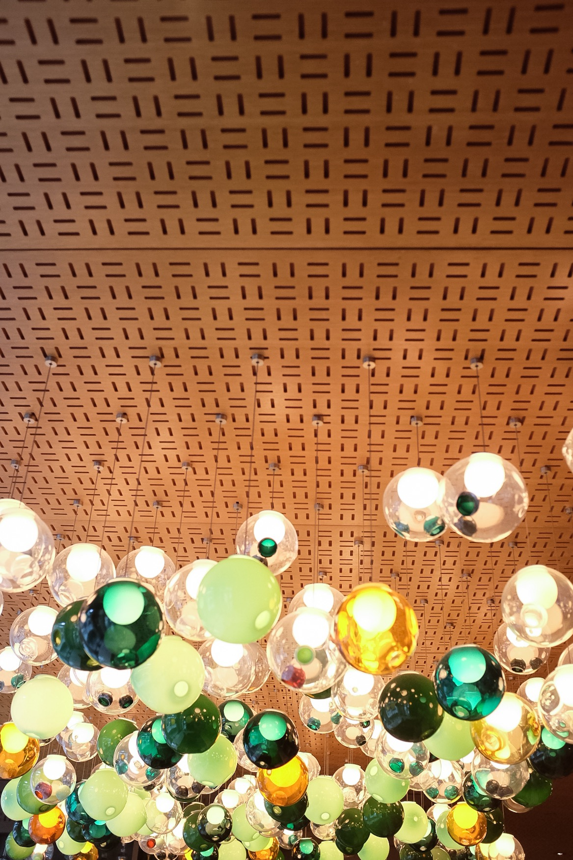 The wonderful ceiling decor at Bosk.