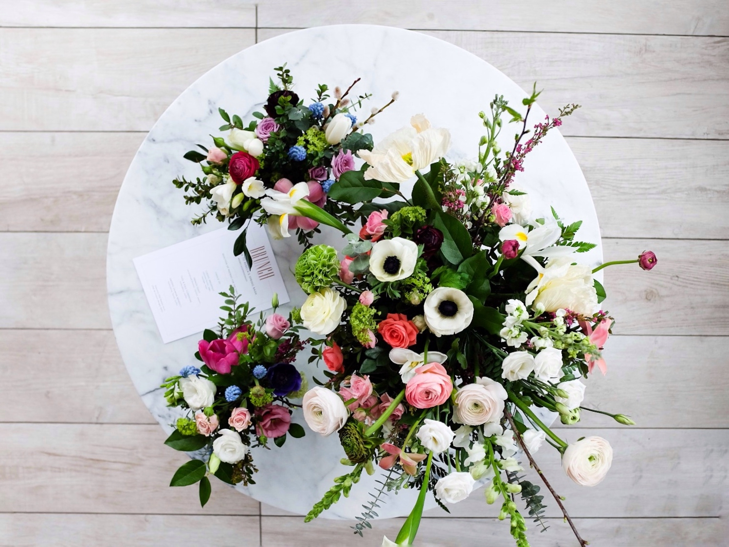 Gorgeous flower arrangements for the blogger event by Wild North Flowers.