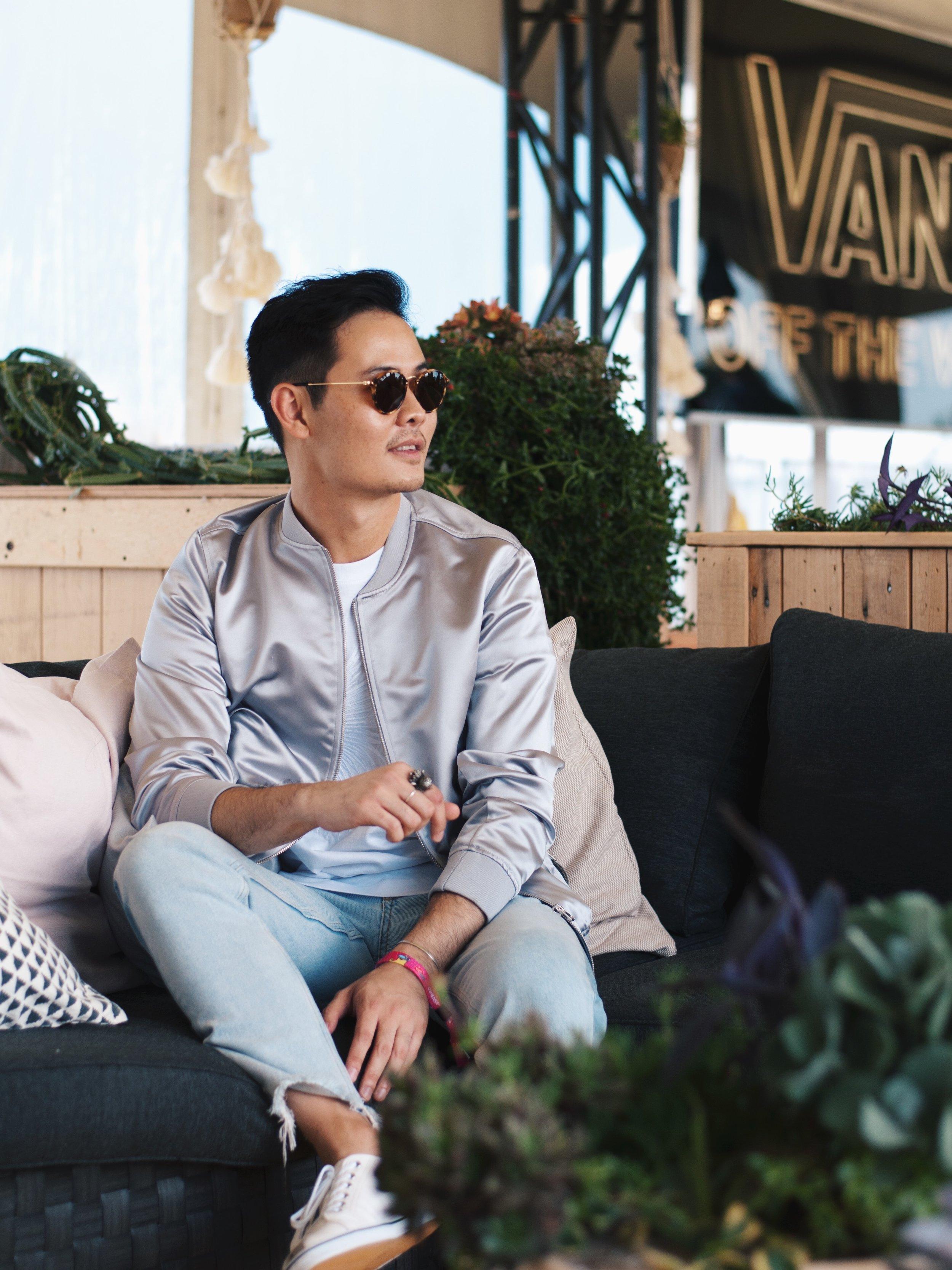 H&M fashion menswear bomber jeans osheaga
