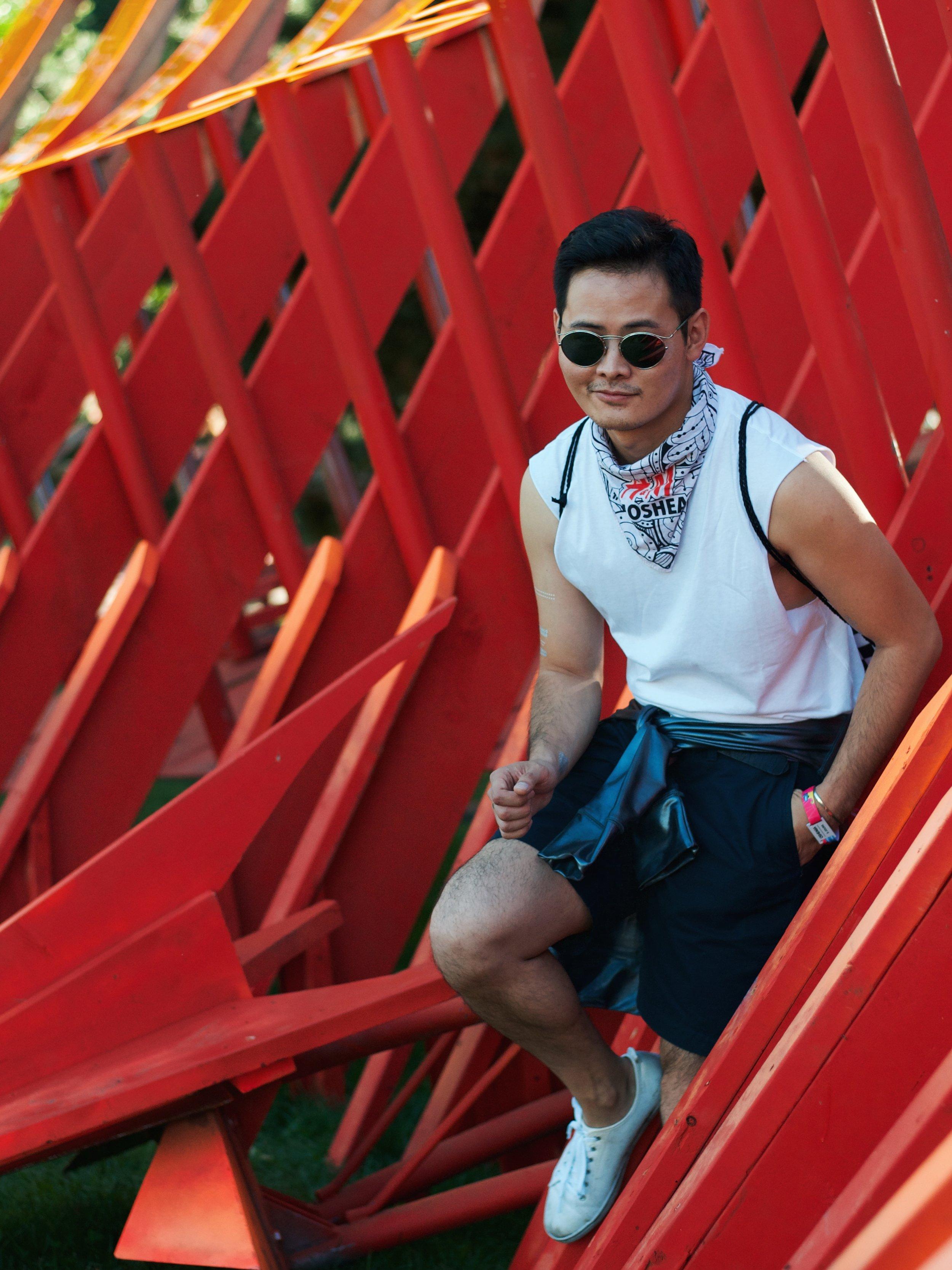 Osheaga menswear fashion H&M tank top festival outfit