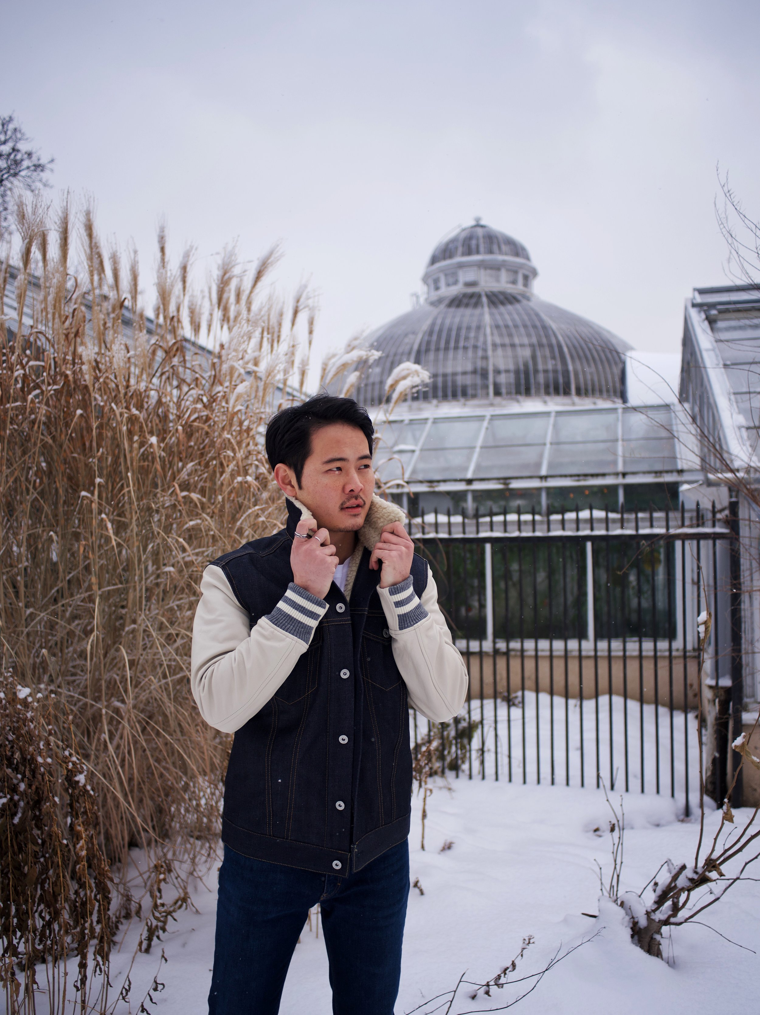 OOTD Allan Gardens menswear junta watanabe comme des garçons Toronto