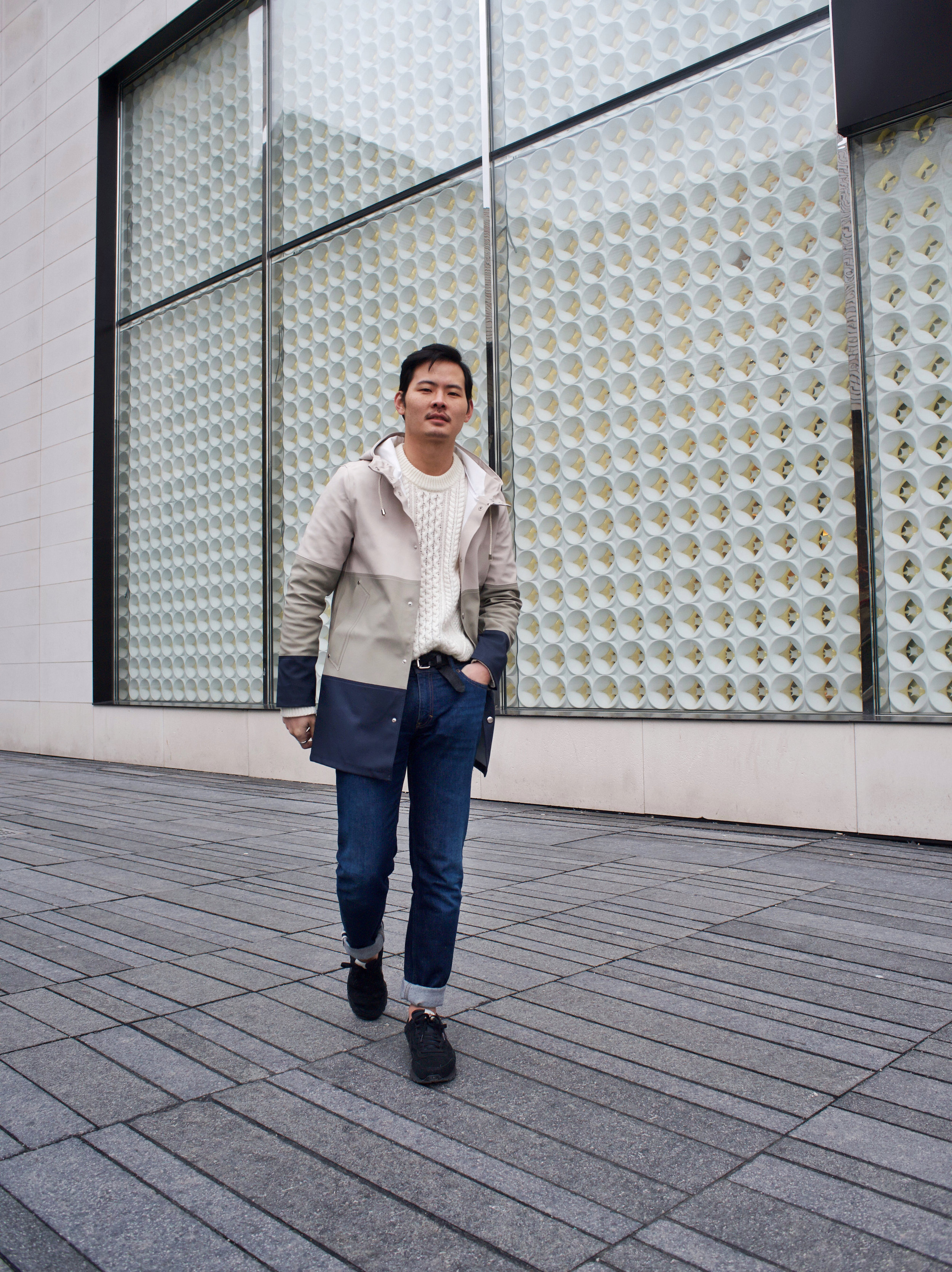 stutterheim raincoat acne jeans menswear