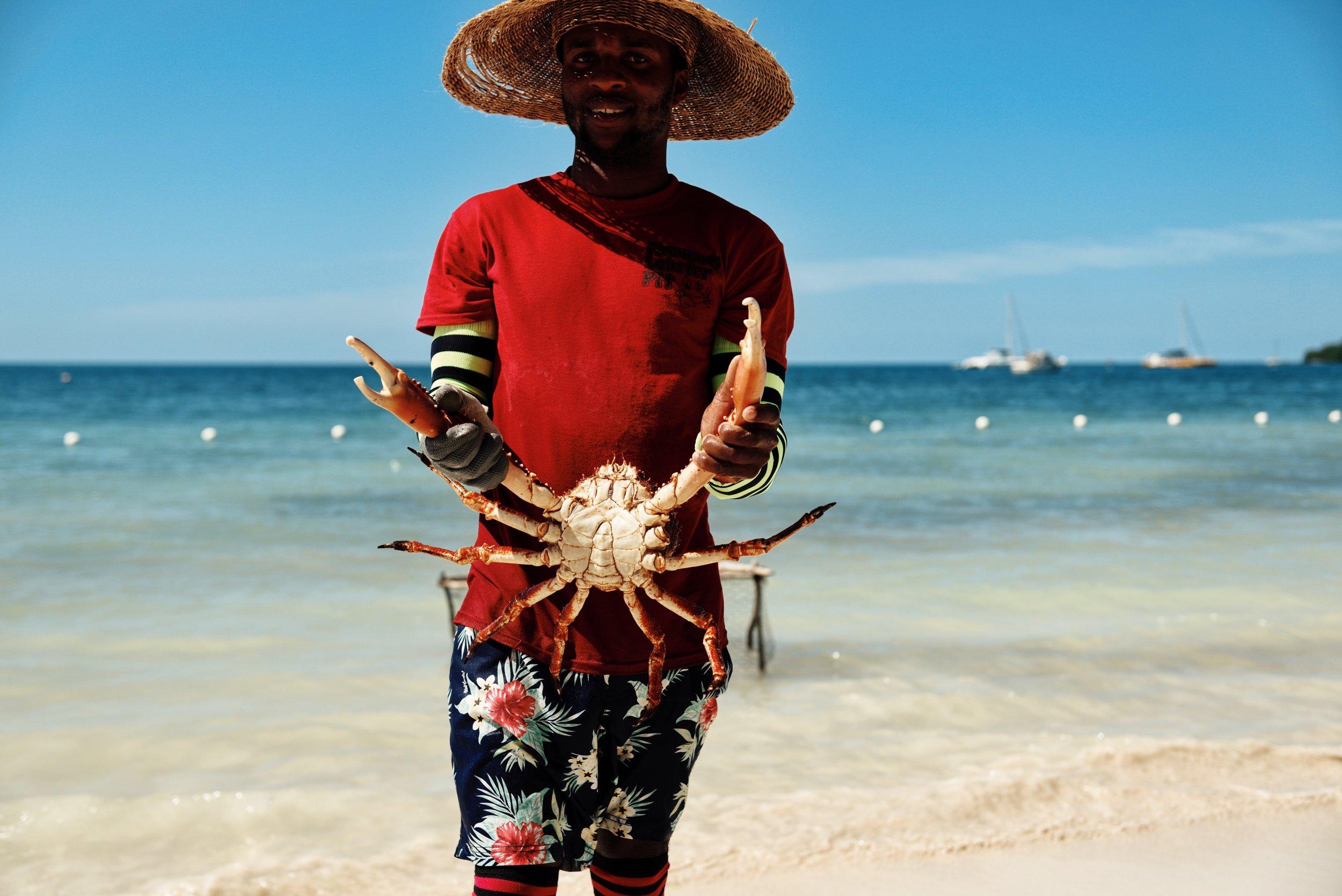 Jamaica crab Negril 7 mile beach