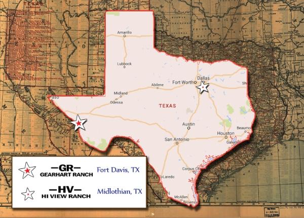 Gearhart Ranch Fort Davis, TX map