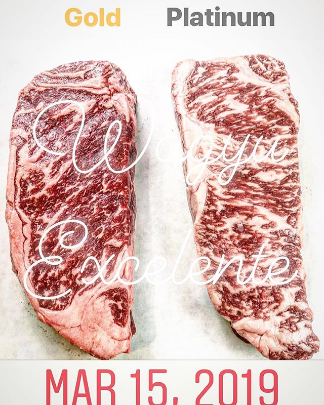 People are saying our Gold NY Strip Steaks taste every bit as good as our Platinum. Not all cattle are created equal, but our Wagyu are finished equally as Gyuud. #gyudd #wagyu #gotexan #austinfoodie #houstonfood #dallasfoodie #chicagofood #foodporn #steaks