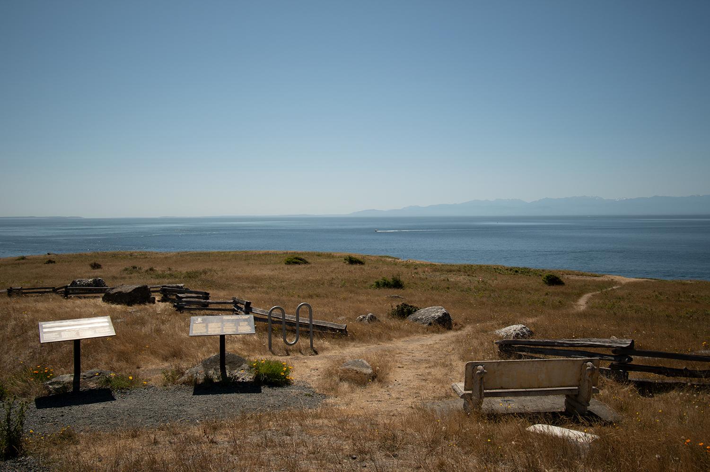 Beachfront lookout facing the Salish Sea