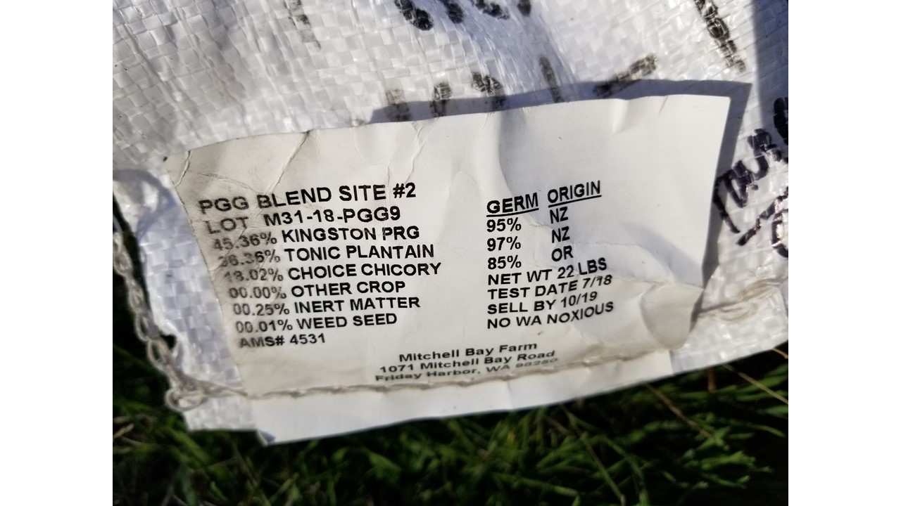 Seed labels of blends