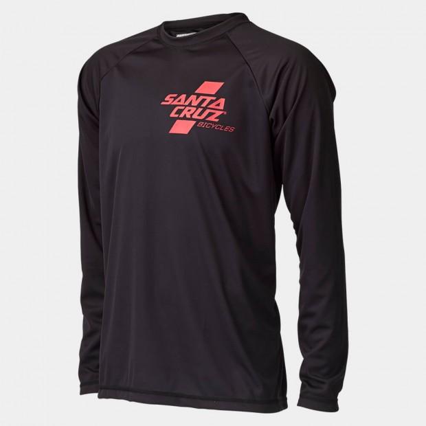 Long Sleeve Santa Cruz Tech T's. Red/black. Sizes: S/M/L.$70 + $6 Courier.