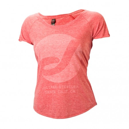 Juliana T-shirt. Red Heather  . Sizes S/M $49 + $6 Courier