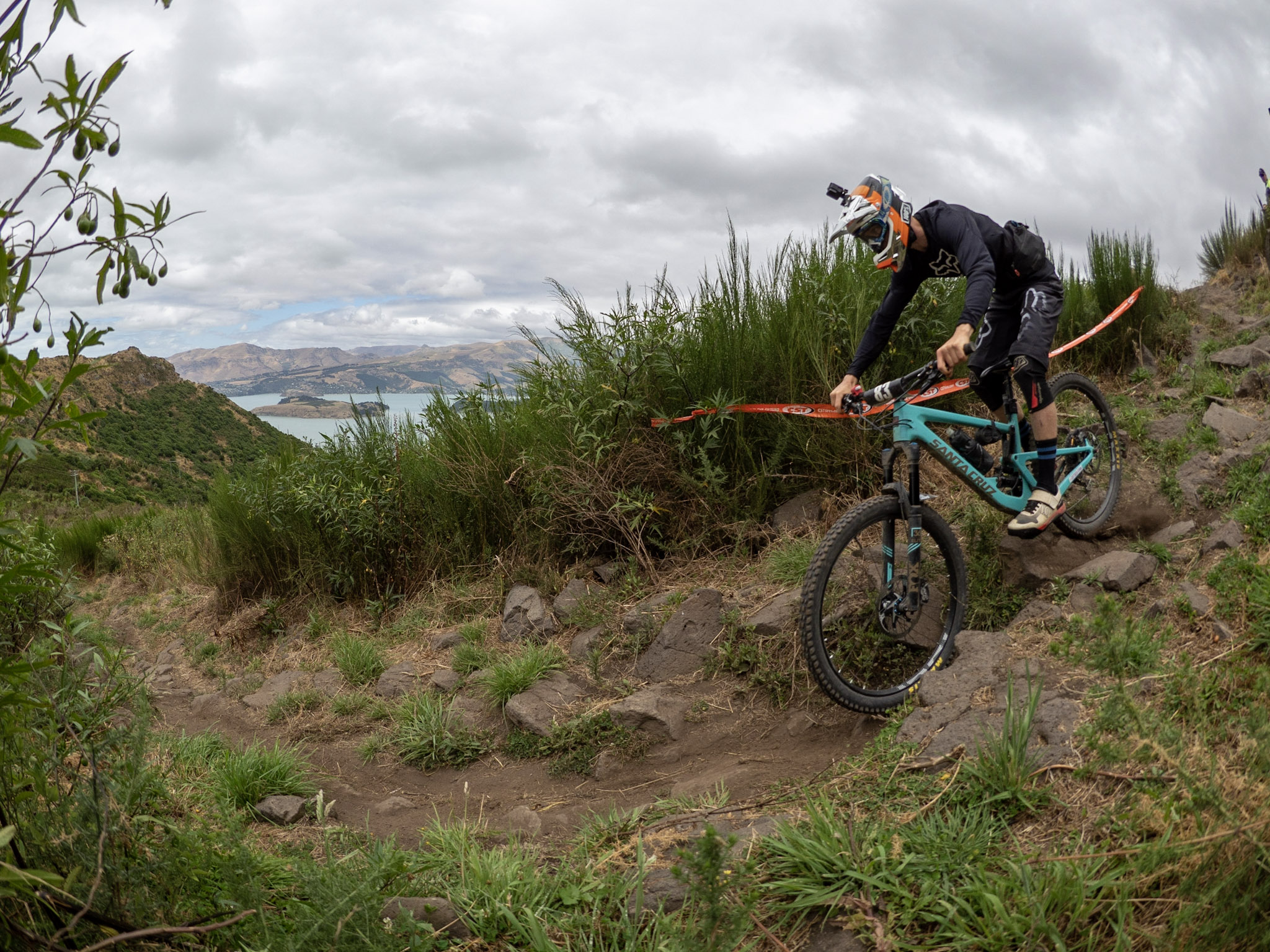 Brady Stone charging through another gruelling weekend to a podium finish at the Phoenix EWS Asia Pacific Enduro in Christchurch.