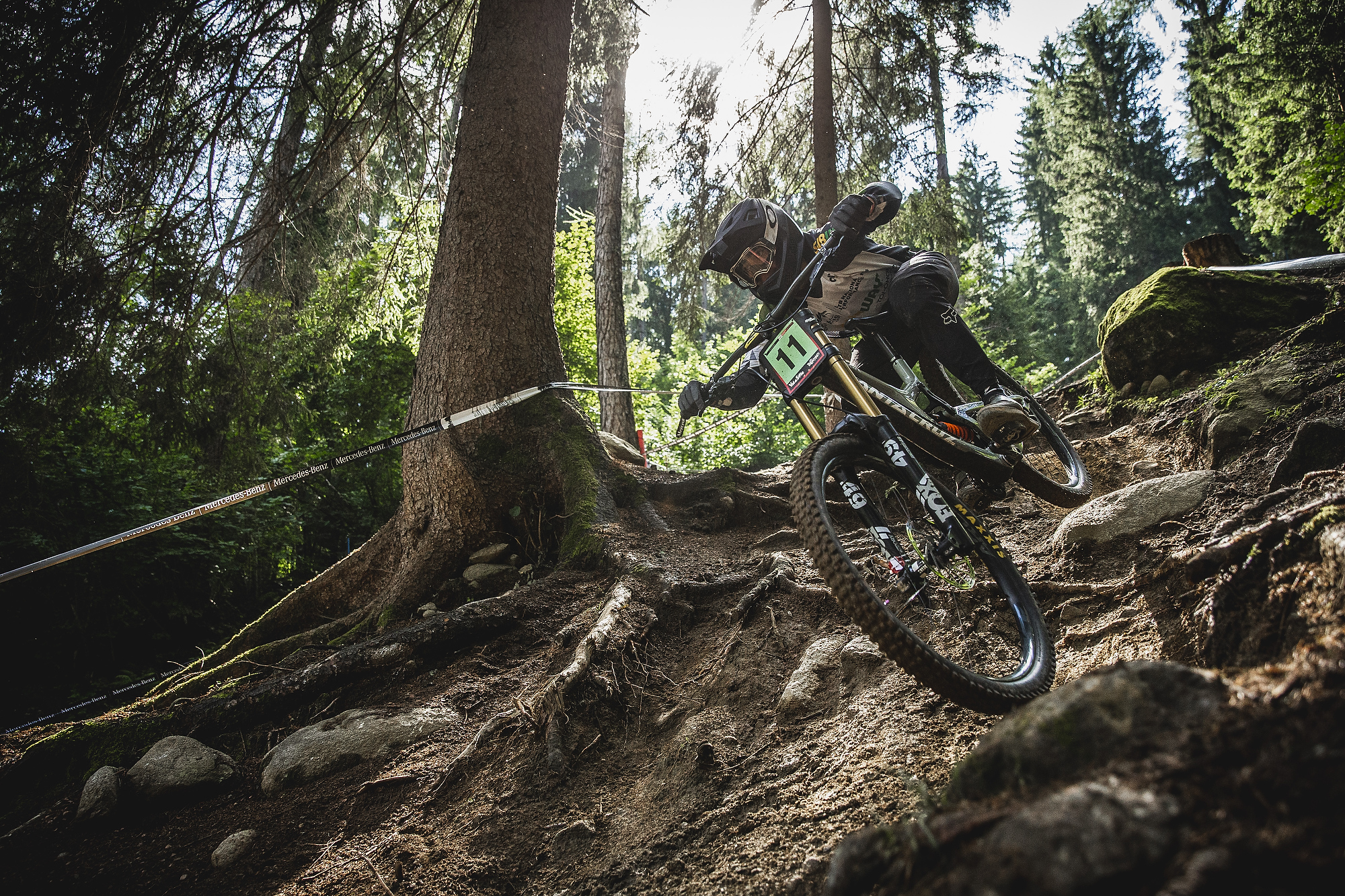 Tuhoto blazing to victory on the extremely raw Val di Sole World Cup course PC Sven Martin