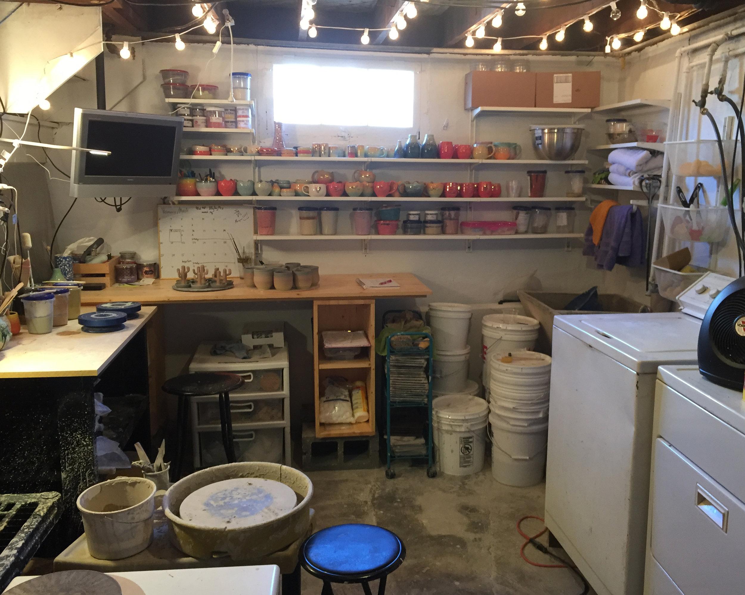 I made that creepy basement my studio!