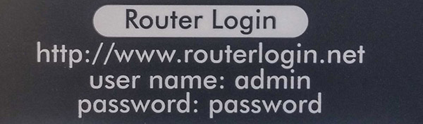 router login details are often printed on the actual unit