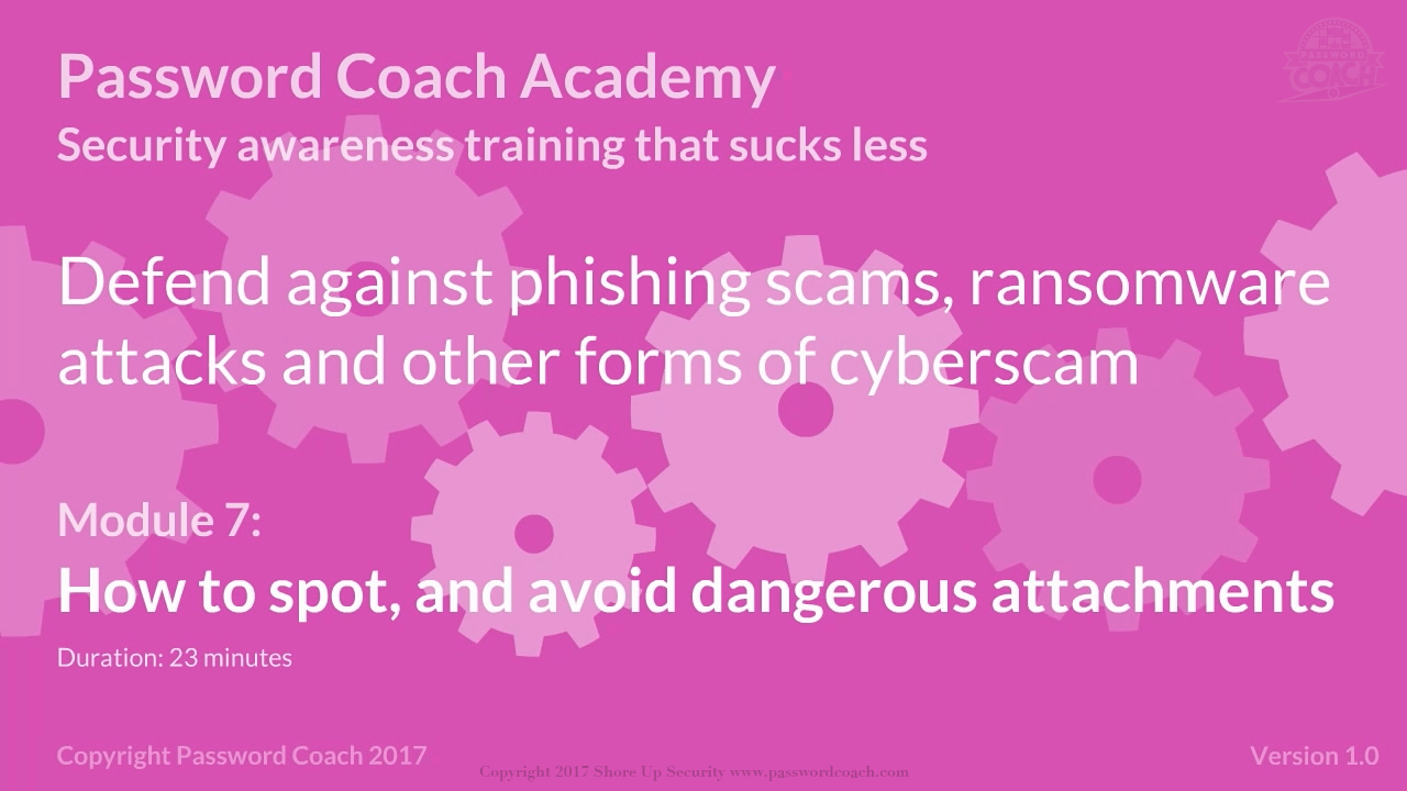 In this module, we will learn how to classify an #attachment as either safe, potentially dangerous or downright dangerous. And learn a set of checks that we can make to uncover any signs of a #scam in the appearance of the attachment.