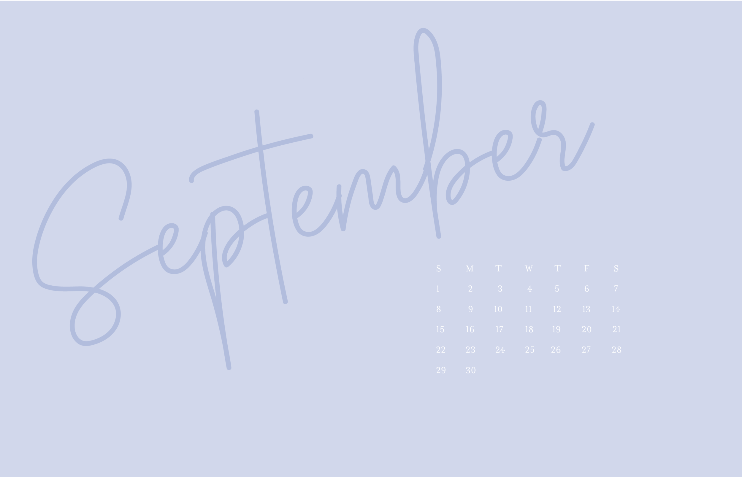 September Monthly Calendar