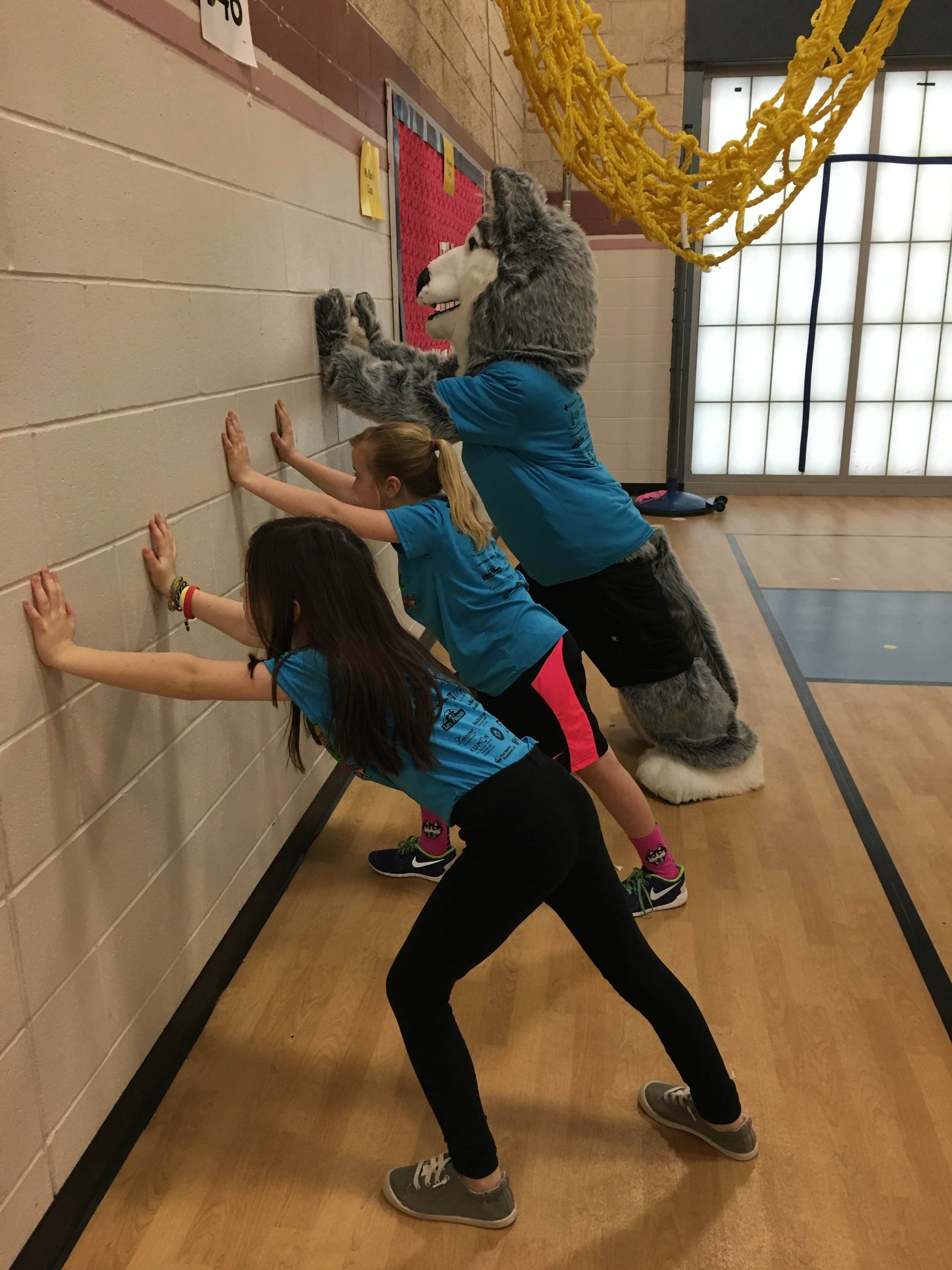 PE Class is excellent for stretching.
