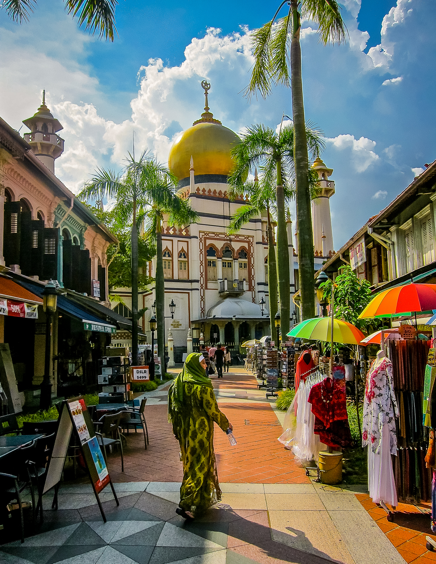 At the Market in the Arab Quarter of SIngapore.
