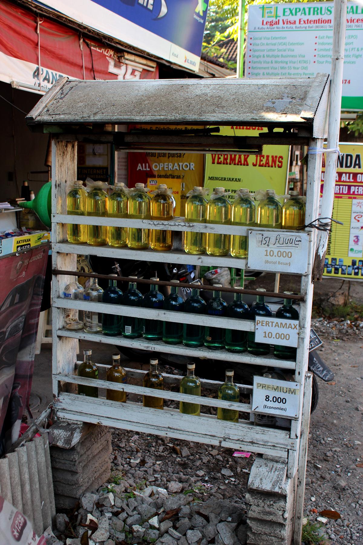 Bali for beginners Transport Petrol