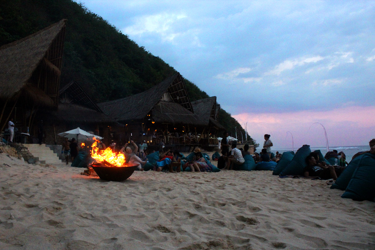 Bali Sundays Beach Club sunset bonfire
