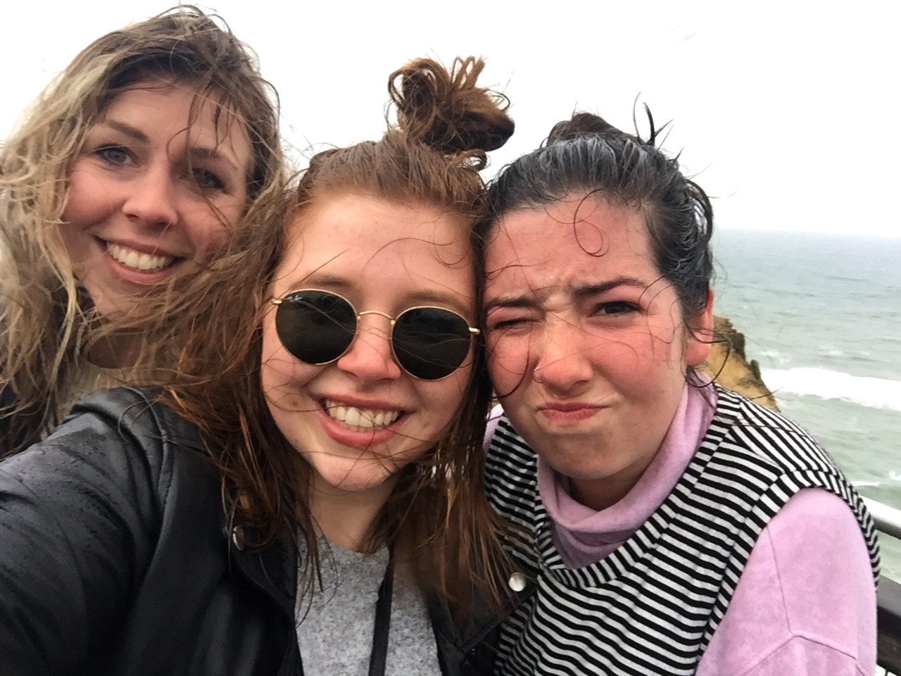 Great Ocean Road - Wet Selfie