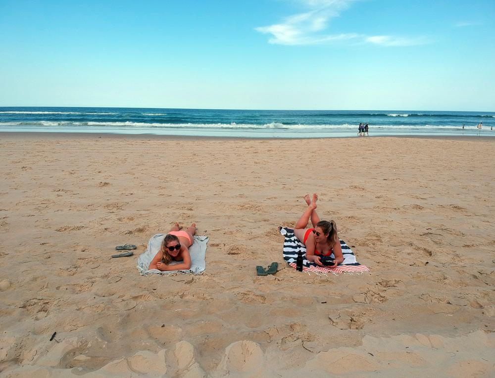 Girls weekend Gold Coast beach