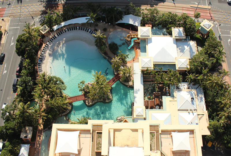 Girls Weekend Gold Coast pool view