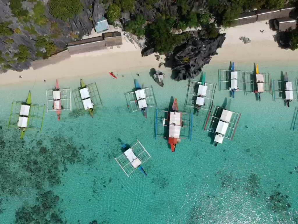 banol beach, drone view
