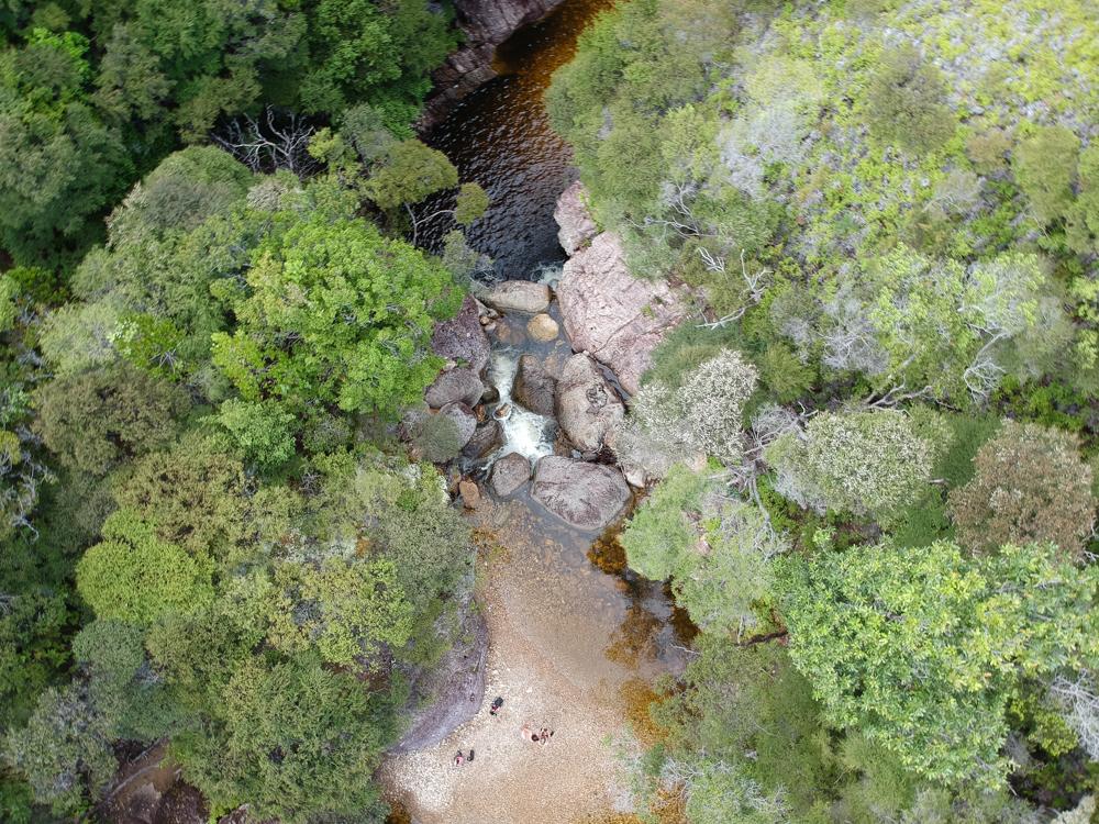 Waterfall hike, Great Barrier Island