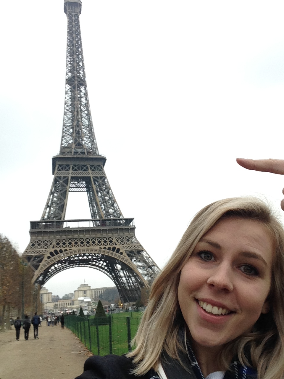 Me and the eiffel tower...I promise to take better photos this time