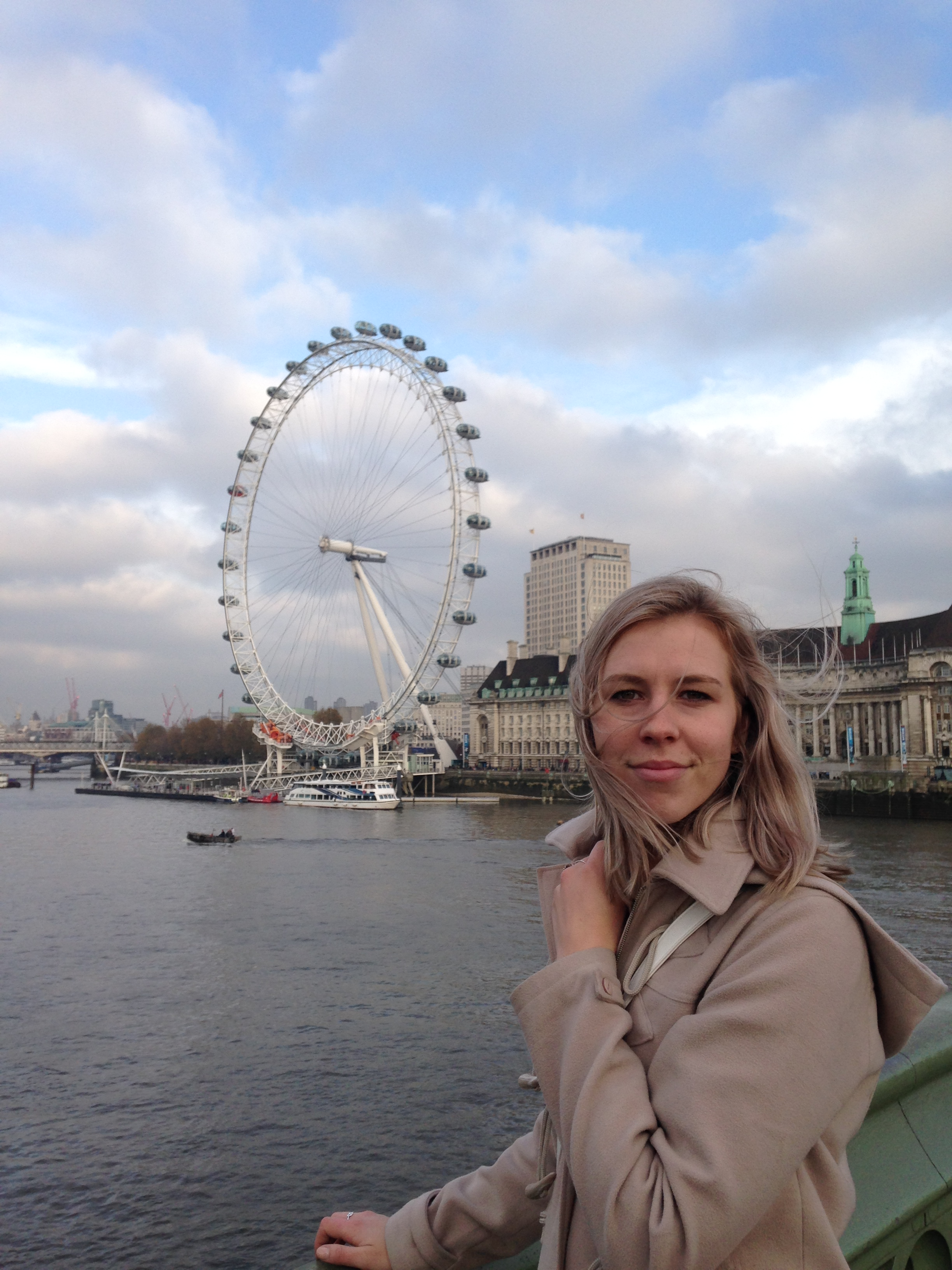 in front of the london eye, november 2014