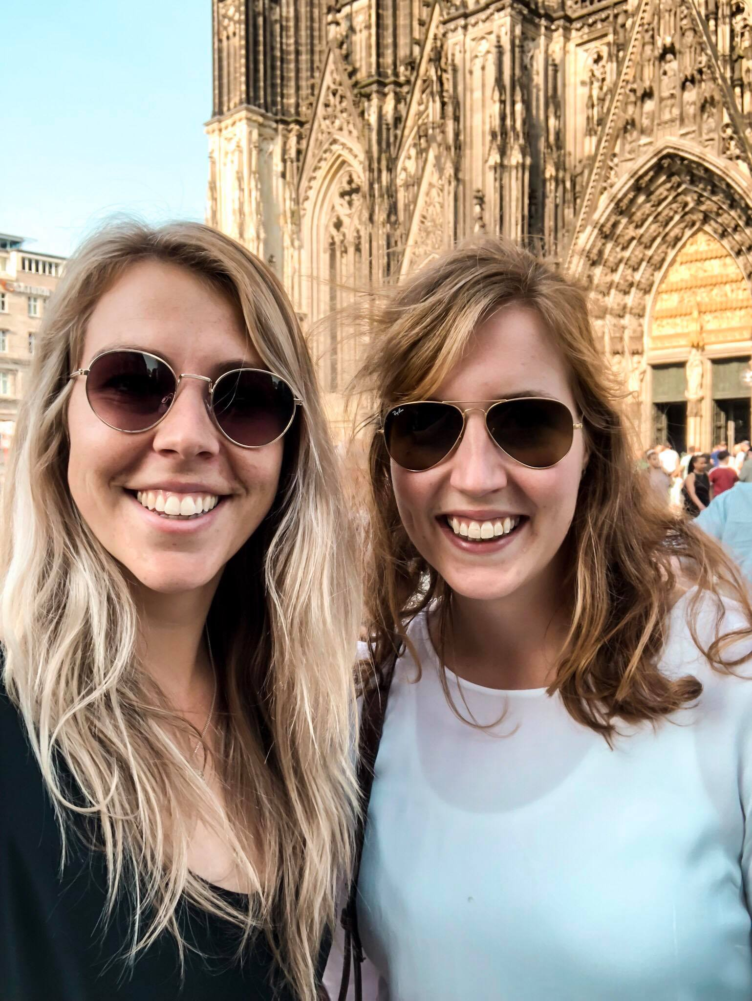 My friend and I in front of the Cologne Cathedral