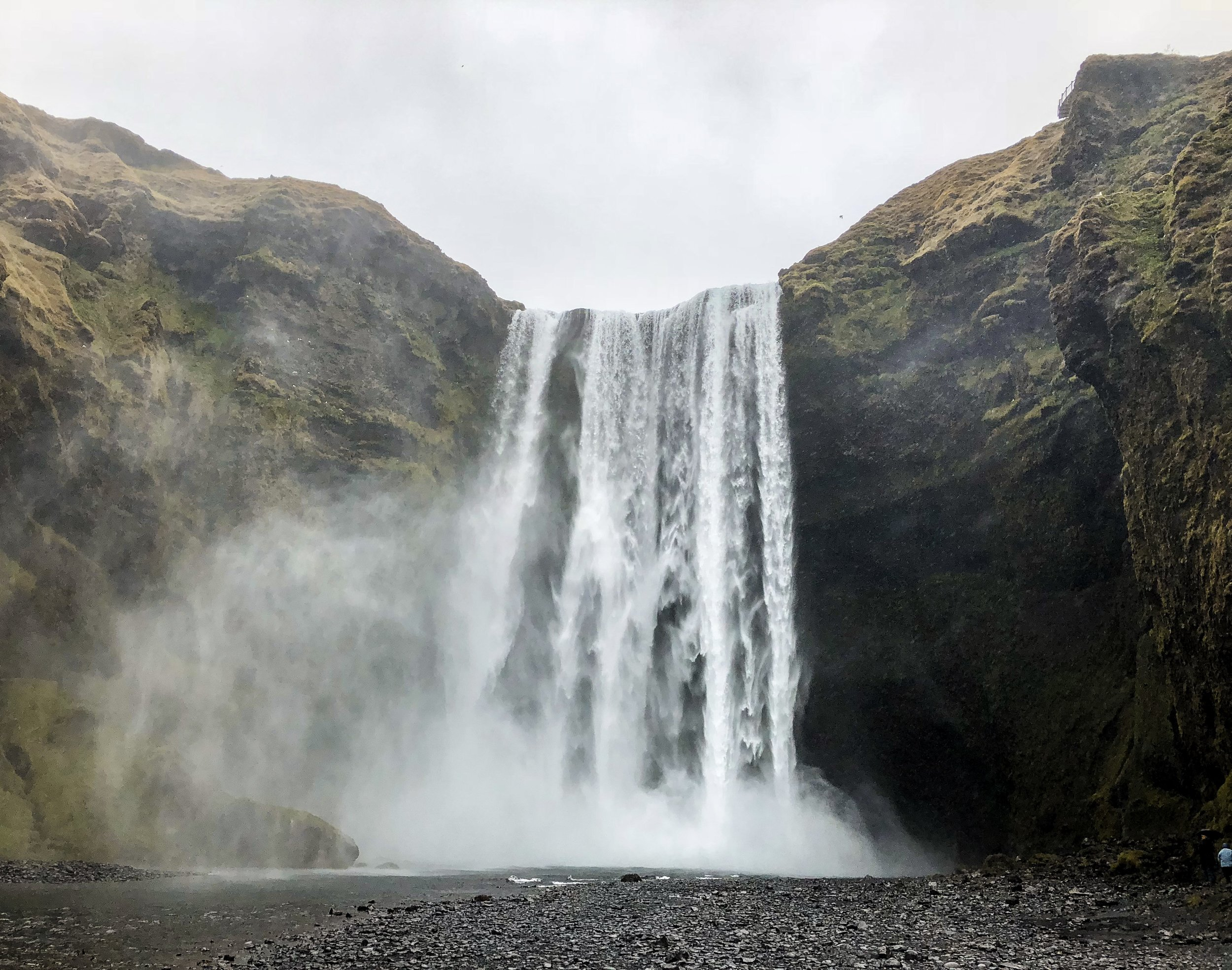 Skógafoss was magnificent!