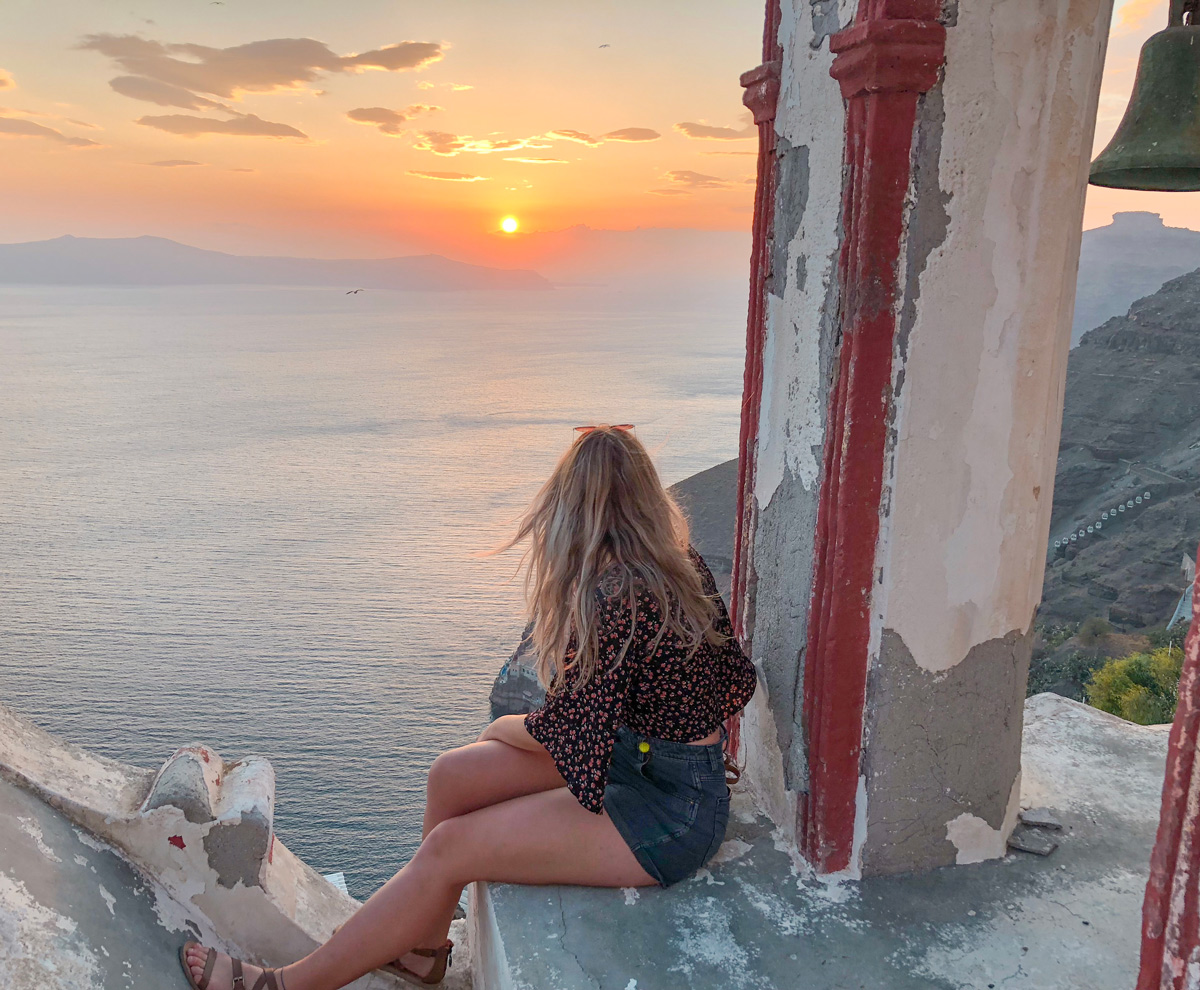 A romantic sunset is just as romantic when you have the best company; your own
